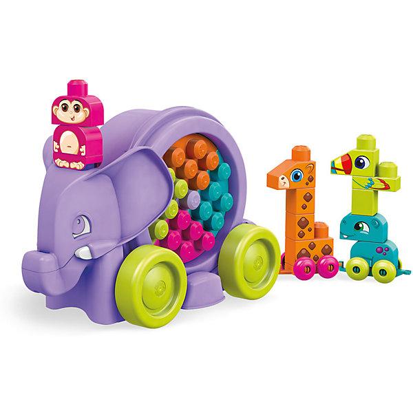 Купить Конструктор MEGA BLOKS Неуклюжий слон , Mattel, Канада, Унисекс