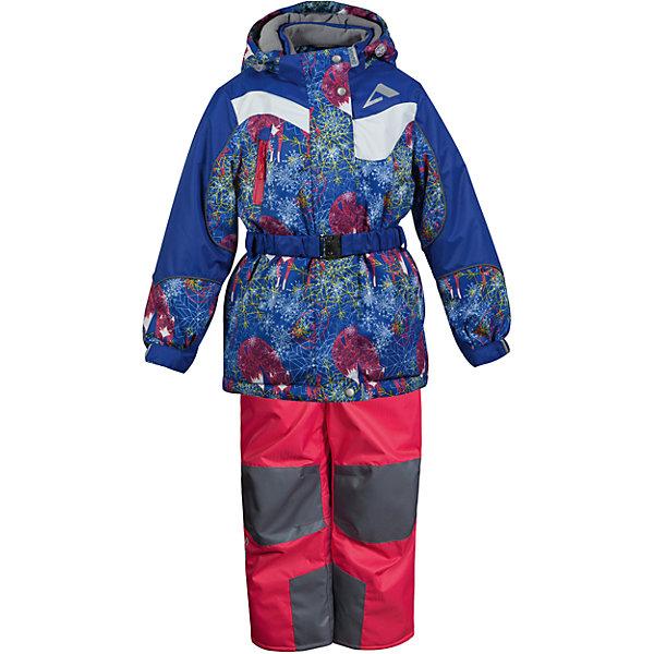 Комплект: куртка и полукомбинезон Алиса OLDOS ACTIVE для девочкиВерхняя одежда<br>Характеристики товара:<br><br>• цвет: малиновый<br>• комплектация: куртка и полукомбинезон<br>• состав ткани: полиэстер, Teflon<br>• подкладка: флис<br>• утеплитель: Hollofan pro<br>• сезон: зима<br>• мембранное покрытие<br>• температурный режим: от -30 до +5<br>• водонепроницаемость: 5000 мм <br>• паропроницаемость: 5000 г/м2<br>• плотность утеплителя: куртка - 200 г/м2, полукомбинезон - 150 г/м2<br>• застежка: молния<br>• капюшон: без меха, съемный<br>• полукомбинезон усилен износостойкими вставками<br>• страна бренда: Россия<br>• страна изготовитель: Россия<br><br>Детский зимний комплект Oldos Active создан с применением мембранной технологии. Модный комплект Oldos рассчитан даже на сильные морозы. Непромокаемый и непродуваемый верх комплекта для девочки создает комфортный для ребенка микроклимат. <br><br>Покрытие Teflon: защита от воды и грязи, износостойкость, за изделием легко ухаживать. Мембрана 5000/5000 обеспечивает водонепроницаемость, при этом одежда дышит. Гипоаллергенный утеплитель HOLLOFAN PRO 200/150 г/м2 - тоньше обычного, зато эффективнее удерживает тепло. <br><br>Подкладка флисовый (в рукавах и брючинах гладкий п/э для легкости одевания). Температурный режим (-30С...+5С). Костюм прекрасно защитит от ветра и снега благодаря воротнику-стойке, ветрозащитным планкам, снего-ветрозащитным муфтам и юбке; манжета регулируется по ширине. Дополнительно в рукавах есть эластичные манжеты с отверстием для большого пальца! <br><br>Низ куртки регулируется по ширине, эластичный пояс. Капюшон съемный с регулировкой объема. Карманы на молнии, есть внутренний кармашек на липучке. Полукомбинезон с застежкой на молнии, резинкой по талии, широкими эластичными регулируемыми подтяжками, карманами, усилениями в местах износа. Светоотражающие элементы.<br><br>Комплект: куртка и полукомбинезон Алиса Oldos (Олдос) для девочки можно купить в нашем интернет-магазине.<br><br>Ширина мм: 356<br>Глуби