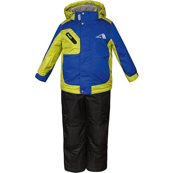 Комплект: куртка и полукомбинезон Ларс OLDOS ACTIVE для мальчикаВерхняя одежда<br>Характеристики товара:<br><br>• цвет: зеленый<br>• комплектация: куртка и полукомбинезон<br>• состав ткани: полиэстер, Teflon<br>• подкладка: флис<br>• утеплитель: Hollofan pro<br>• сезон: зима<br>• мембрана<br>• температурный режим: от -30 до +5<br>• водонепроницаемость: 5000 мм <br>• паропроницаемость: 5000 г/м2<br>• плотность утеплителя: куртка - 200 г/м2, полукомбинезон - 150 г/м2<br>• застежка: молния<br>• капюшон: без меха, съемный<br>• полукомбинезон усилен износостойкими вставками<br>• страна бренда: Россия<br>• страна изготовитель: Россия<br><br>Легкий и теплый зимний комплект выделяется стильным дизайном и качественными материалами. Детский комплект для мальчика дополнен элементами, помогающими скорректировать размер точно под ребенка. Детский зимний комплект создан с применением мембранной технологии, поэтому обеспечивает отличную терморегуляцию. <br><br>Покрытие Teflon: защита от воды и грязи, износостойкость, за изделием легко ухаживать. Мембрана 5000/5000 обеспечивает водонепроницаемость, одежда дышит. Гипоаллергенный утеплитель HOLLOFAN PRO 200/150 г/м2 - тоньше обычного, зато эффективнее удерживает тепло. Подкладка флисовый (в рукавах и п/комбинезоне гладкий п/э для легкости одевания). <br><br>Костюм прекрасно защитит от ветра и снега благодаря воротнику-стойке, ветрозащитным планкам, снего-ветрозащитным муфтам и юбке; манжета регулируется по ширине. Дополнительно в рукавах есть эластичные манжеты с отверстием для большого пальца! <br><br>Спинка удлиненная, низ куртки регулируется по ширине. Капюшон съемный с регулировкой объема. Карманы на молнии, есть внутренний кармашек на липучке. Полукомбинезон с застежкой на молнии, резинкой по талии, широкими эластичными регулируемыми подтяжками, карманами, усилениями в местах износа. Светоотражающие элементы.<br><br>Комплект: куртка и полукомбинезон Ларс Oldos (Олдос) для мальчика можно купить в нашем интернет-магазине.<br>Ширин