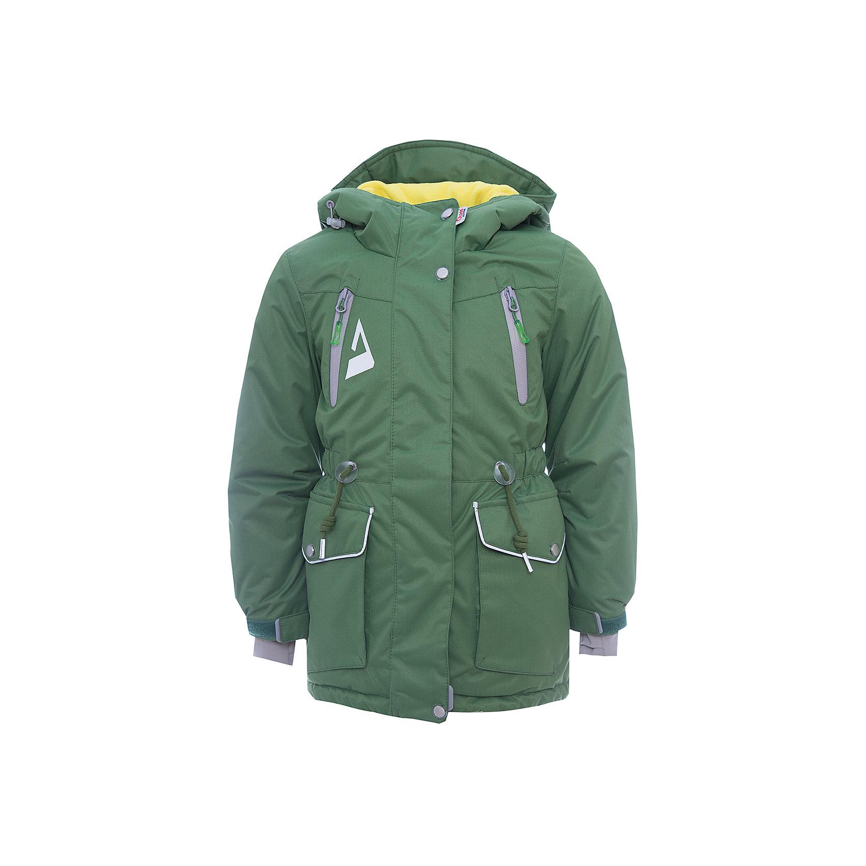 Куртка Киара OLDOS для девочкиВерхняя одежда<br>Характеристики товара:<br><br>• цвет: зеленый<br>• состав ткани: полиэстер, Teflon<br>• подкладка: флис<br>• утеплитель: Hollofan pro<br>• сезон: зима<br>• мембранное покрытие<br>• температурный режим: от -30 до +5<br>• водонепроницаемость: 5000 мм <br>• паропроницаемость: 5000 г/м2<br>• плотность утеплителя: 200 г/м2<br>• застежка: молния<br>• капюшон: без меха<br>• страна бренда: Россия<br>• страна изготовитель: Россия<br><br>Эта детская куртка от бренда Oldos теплая и легкая благодаря инновационным материалам. Теплая куртка для девочки дополнена элементами, помогающими подогнать её размер под ребенка. Детская зимняя куртка создана с применением мембранной технологии, она рассчитана даже на сильные морозы. <br><br>Куртку Киара Oldos (Олдос) для девочки можно купить в нашем интернет-магазине.<br><br>Ширина мм: 356<br>Глубина мм: 10<br>Высота мм: 245<br>Вес г: 519<br>Цвет: зеленый<br>Возраст от месяцев: 108<br>Возраст до месяцев: 120<br>Пол: Женский<br>Возраст: Детский<br>Размер: 140,146,152,158,110,116,122,128,134<br>SKU: 7015727