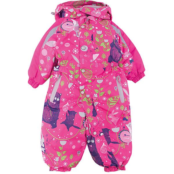Комбинезон Джаз-Бэнд OLDOS ACTIVE для девочкиКомбинезоны<br>Характеристики товара:<br><br>• цвет: фуксия<br>• состав ткани: полиэстер, Teflon<br>• подкладка: флис, гладкий полиэстер<br>• утеплитель: Hollofan pro<br>• сезон: зима<br>• мембрана<br>• температурный режим: от -30 до +5<br>• водонепроницаемость: 5000 мм <br>• паропроницаемость: 5000 г/м2<br>• плотность утеплителя: 200 г/м2<br>• застежка: молния<br>• капюшон: без меха, съемный<br>• силиконовые штрипки<br>• в комплекте флисовый комбинезон<br>• страна бренда: Россия<br>• страна изготовитель: Россия<br><br>Легкий и теплый зимний комбинезон выделяется продуманным стильным дизайном. Детский комбинезон для девочки дополнен элементами, помогающими защитить ребенка от попадания снега внутрь. Детский зимний комбинезон создан с применением мембранной технологии, поэтому рассчитан и на очень холодную погоду. В комплекте - теплый флисовый комбинезон.<br><br>Внешнее покрытие Teflon - защита от воды и грязи, дополнительная износостойкость, за изделием легко ухаживать. Мембрана 5000/5000 обеспечивает водонепроницаемость, отвод влаги и комфортную атмосферу внутри. Гипоаллергенный утеплитель HOLLOFAN PRO 200 г/м2 тоньше обычного, но эффективнее удерживает тепло. Подкладка - флис, в рукавах и брючинах - гладкий полиэстер. <br><br>Комбинезон принтованный, силуэт приталенный, карманы на молнии, светоотражающие элементы, нашивка - потеряшка. Изделие прекрасно защитит от ветра и снега благодаря съемному капюшону с регулировкой объема, воротнику - стойке, ветрозащитным планкам и резинкам по краю рукавов и брючин. Силиконовые штрипки не позволят брючинам задираться во время активных игр. <br><br>В комплекте - флисовый комбинезон. Флис имеет двустороннюю антипиллинговую обработку, что позволяет надолго сохранить внешний вид и его основные характеристики.<br><br>Комбинезон Джаз-Бэнд Oldos (Олдос) для девочки можно купить в нашем интернет-магазине.<br><br>Ширина мм: 356<br>Глубина мм: 10<br>Высота мм: 245<br>Вес г: 519<br>Цвет: фукс
