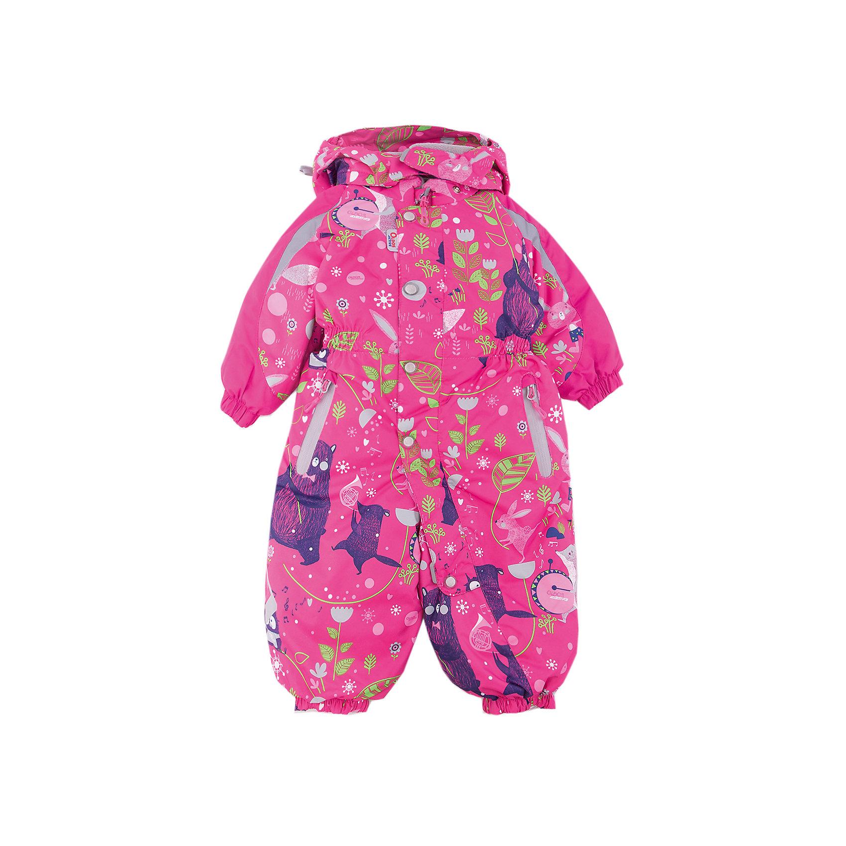 Комбинезон Джаз-Бэнд OLDOS для девочкиВерхняя одежда<br>Характеристики товара:<br><br>• цвет: фуксия<br>• состав ткани: полиэстер, Teflon<br>• подкладка: флис, гладкий полиэстер<br>• утеплитель: Hollofan pro<br>• сезон: зима<br>• мембранное покрытие<br>• температурный режим: от -30 до +5<br>• водонепроницаемость: 5000 мм <br>• паропроницаемость: 5000 г/м2<br>• плотность утеплителя: 200 г/м2<br>• застежка: молния<br>• капюшон: без меха, съемный<br>• силиконовые штрипки<br>• в комплекте флисовый комбинезон<br>• страна бренда: Россия<br>• страна изготовитель: Россия<br><br>Легкий и теплый зимний комбинезон выделяется продуманным стильным дизайном. Детский комбинезон для девочки дополнен элементами, помогающими защитить ребенка от попадания снега внутрь. Детский зимний комбинезон создан с применением мембранной технологии, поэтому рассчитан и на очень холодную погоду. В комплекте - теплый флисовый комбинезон.<br><br>Комбинезон Джаз-Бэнд Oldos (Олдос) для девочки можно купить в нашем интернет-магазине.<br><br>Ширина мм: 356<br>Глубина мм: 10<br>Высота мм: 245<br>Вес г: 519<br>Цвет: фуксия<br>Возраст от месяцев: 18<br>Возраст до месяцев: 24<br>Пол: Женский<br>Возраст: Детский<br>Размер: 92,80,86<br>SKU: 7015792
