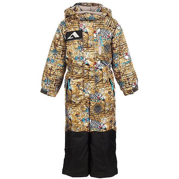 Комбинезон Эдди OLDOS ACTIVE для мальчикаВерхняя одежда<br>Характеристики товара:<br><br>• цвет: желтый<br>• состав ткани: полиэстер, Teflon<br>• подкладка: флис, гладкий полиэстер<br>• утеплитель: Hollofan pro<br>• сезон: зима<br>• мембрана<br>• температурный режим: от -30 до +5<br>• водонепроницаемость: 5000 мм <br>• паропроницаемость: 5000 г/м2<br>• плотность утеплителя: 200 г/м2<br>• застежка: молния<br>• капюшон: без меха, съемный<br>• силиконовые штрипки<br>• износостойкая ткань по низу брючин<br>• страна бренда: Россия<br>• страна изготовитель: Россия<br><br>Зимний комбинезон дополнен утяжкой в талии для лучшей посадки. Такой комбинезон для мальчика отлично защищает ребенка от попадания снега внутрь. Детский зимний комбинезон создан с применением мембранной технологии, поэтому рассчитан и на очень холодную погоду. <br><br>Внешнее покрытие Teflon - защита от воды и грязи, за изделием легко ухаживать. Мембрана 5000/5000 обеспечивает водонепроницаемость, отвод влаги и комфортную атмосферу внутри. Гипоаллергенный утеплитель HOLLOFAN PRO 200 г/м2 тоньше обычного, но эффективнее удерживает тепло. Подкладка – флис, в рукавах и брючинах – гладкий полиэстер. Флис имеет двустороннюю антипиллинговую обработку, что позволяет надолго сохранить внешний вид и его основные характеристики. <br><br>Комбинезон принтованный, силуэт приталенный, карманы на молнии, светоотражающие элементы, нашивка – потеряшка. Изделие прекрасно защитит от ветра и снега благодаря съемному капюшону с регулировкой объема, воротнику - стойке, ветрозащитным планкам, снего - ветрозащитным муфтам с антискользящей резинкой. Манжеты регулируются по ширине липучкой, есть дополнительные мягкие манжеты с отверстием для большого пальца, силиконовые штрипки. <br><br>Комбинезон Эдди Oldos (Олдос) для мальчика можно купить в нашем интернет-магазине.<br><br>Ширина мм: 356<br>Глубина мм: 10<br>Высота мм: 245<br>Вес г: 519<br>Цвет: желтый<br>Возраст от месяцев: 24<br>Возраст до месяцев: 36<br>Пол: Мужской<br>Возрас
