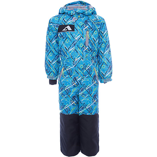 Комбинезон Джейми OLDOS ACTIVE для мальчикаВерхняя одежда<br>Характеристики товара:<br><br>• цвет: голубой<br>• состав ткани: полиэстер, Teflon<br>• подкладка: флис, гладкий полиэстер<br>• утеплитель: Hollofan pro<br>• сезон: зима<br>• мембрана<br>• температурный режим: от -30 до +5<br>• водонепроницаемость: 5000 мм <br>• паропроницаемость: 5000 г/м2<br>• плотность утеплителя: 200 г/м2<br>• застежка: молния<br>• капюшон: без меха, съемный<br>• силиконовые штрипки<br>• износостойкая ткань по низу брючин<br>• страна бренда: Россия<br>• страна изготовитель: Россия<br><br>В детском комбинезоне - тонкий гипоаллергенный утеплитель, который лучше удерживает тепло. Мембранный верх комбинезона создает комфортный для ребенка микроклимат. Теплый комбинезон для ребенка дополнен множеством элементов для дополнительного комфорта. Зимний комбинезон Oldos имеет силиконовые штрипки, капюшон, манжеты, планку от ветра.<br><br>Внешнее покрытие Teflon - защита от воды и грязи, за изделием легко ухаживать. Мембрана 5000/5000 обеспечивает водонепроницаемость, отвод влаги и комфортную атмосферу внутри. Гипоаллергенный утеплитель HOLLOFAN PRO 200 г/м2 тоньше обычного, но эффективнее удерживает тепло. Подкладка – флис, в рукавах и брючинах – гладкий полиэстер. Флис имеет двустороннюю антипиллинговую обработку, что позволяет надолго сохранить внешний вид и его основные характеристики. <br><br>Комбинезон принтованный, силуэт приталенный, карманы на молнии, светоотражающие элементы, нашивка – потеряшка. Изделие прекрасно защитит от ветра и снега благодаря съемному капюшону с регулировкой объема, воротнику - стойке, ветрозащитным планкам, снего - ветрозащитным муфтам с антискользящей резинкой. Манжеты регулируются по ширине липучкой, есть дополнительные мягкие манжеты с отверстием для большого пальца, силиконовые штрипки.<br><br>Комбинезон Джейми Oldos (Олдос) для мальчика можно купить в нашем интернет-магазине.<br>Ширина мм: 356; Глубина мм: 10; Высота мм: 245; Вес г: 519; Цвет: голубой; Возрас