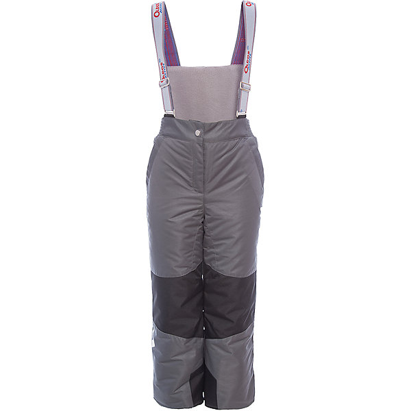 Брюки Эмма OLDOS ACTIVE для девочкиВерхняя одежда<br>Характеристики товара:<br><br>• цвет: серый<br>• состав ткани: полиэстер, Teflon<br>• подкладка: полиэстер<br>• утеплитель: Hollofan pro<br>• сезон: зима<br>• мембрана<br>• температурный режим: от -30 до +5<br>• водонепроницаемость: 5000 мм <br>• паропроницаемость: 5000 г/м2<br>• плотность утеплителя: 150 г/м2<br>• застежка: молния, кнопка, липучка<br>• спинка с лямками: съемные<br>• износостойкая ткань по низу брючин<br>• страна бренда: Россия<br>• страна изготовитель: Россия<br><br>Зимние брюки легко надеваются благодаря удобной застежке. Такие брюки для ребенка отлично защищают ребенка от попадания снега внутрь. Детские зимние брюки созданы с применением мембранной технологии, поэтому теплые брюки рассчитаны даже на очень холодную погоду и сильный ветер. <br><br>Внешнее покрытие Teflon - защита от воды и грязи, дополнительная износостойкость, за изделием легко ухаживать. Мембрана 5000/5000 обеспечивает водонепроницаемость и отвод влаги. Гипоаллергенный утеплитель HOLLOFAN PRO 150 г/м2 эффективно сохраняет тепло, не впитывает запахи и влагу, легкий и простой в уходе. Подкладка - полиэстер. Широкие эластичные подтяжки регулируются по длине. <br><br>Спинка с флисовой подкладкой для дополнительной защиты от холода. При необходимости подтяжки и спинку можно отстегнуть. Пояс с резиновой вставкой для комфортного ношения. Муфта с антискользящей резинкой защитит от ветра и снега, брючины не задерутся во время активных игр. Карманы на молнии и усиления в местах особого износа. <br><br>Брюки Эмма Oldos (Олдос) для девочки можно купить в нашем интернет-магазине.<br>Ширина мм: 215; Глубина мм: 88; Высота мм: 191; Вес г: 336; Цвет: серый; Возраст от месяцев: 18; Возраст до месяцев: 24; Пол: Женский; Возраст: Детский; Размер: 92,152,98,104,110,116,122,128,134,140,146; SKU: 7015867;
