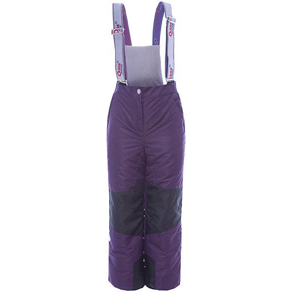 Брюки Эмма OLDOS ACTIVE для девочкиВерхняя одежда<br>Характеристики товара:<br><br>• цвет: фиолетовый<br>• состав ткани: полиэстер, Teflon<br>• подкладка: полиэстер<br>• утеплитель: Hollofan pro<br>• сезон: зима<br>• мембрана<br>• температурный режим: от -30 до +5<br>• водонепроницаемость: 5000 мм <br>• паропроницаемость: 5000 г/м2<br>• плотность утеплителя: 150 г/м2<br>• застежка: молния, кнопка, липучка<br>• спинка с лямками: съемные<br>• износостойкая ткань по низу брючин<br>• страна бренда: Россия<br>• страна изготовитель: Россия<br><br>В этих детских брюках - тонкий гипоаллергенный утеплитель, который отлично удерживает тепло. Мембранный верх брюк создает комфортный для ребенка микроклимат. Зимние брюки Oldos имеют противоснежные муфты с антискользящей резинкой, усиление на коленях и внизу брючин от износа и съемную спинку с регулируемыми лямками.<br><br>Внешнее покрытие Teflon - защита от воды и грязи, дополнительная износостойкость, за изделием легко ухаживать. Мембрана 5000/5000 обеспечивает водонепроницаемость и отвод влаги. Гипоаллергенный утеплитель HOLLOFAN PRO 150 г/м2 эффективно сохраняет тепло, не впитывает запахи и влагу, легкий и простой в уходе. Подкладка - полиэстер. Широкие эластичные подтяжки регулируются по длине. <br><br>Спинка с флисовой подкладкой для дополнительной защиты от холода. При необходимости подтяжки и спинку можно отстегнуть. Пояс с резиновой вставкой для комфортного ношения. Муфта с антискользящей резинкой защитит от ветра и снега, брючины не задерутся во время активных игр. Карманы на молнии и усиления в местах особого износа. <br><br>Брюки Эмма Oldos (Олдос) для девочки можно купить в нашем интернет-магазине.<br>Ширина мм: 215; Глубина мм: 88; Высота мм: 191; Вес г: 336; Цвет: лиловый; Возраст от месяцев: 24; Возраст до месяцев: 36; Пол: Женский; Возраст: Детский; Размер: 98,92,152,146,140,134,128,122,116,110,104; SKU: 7015874;