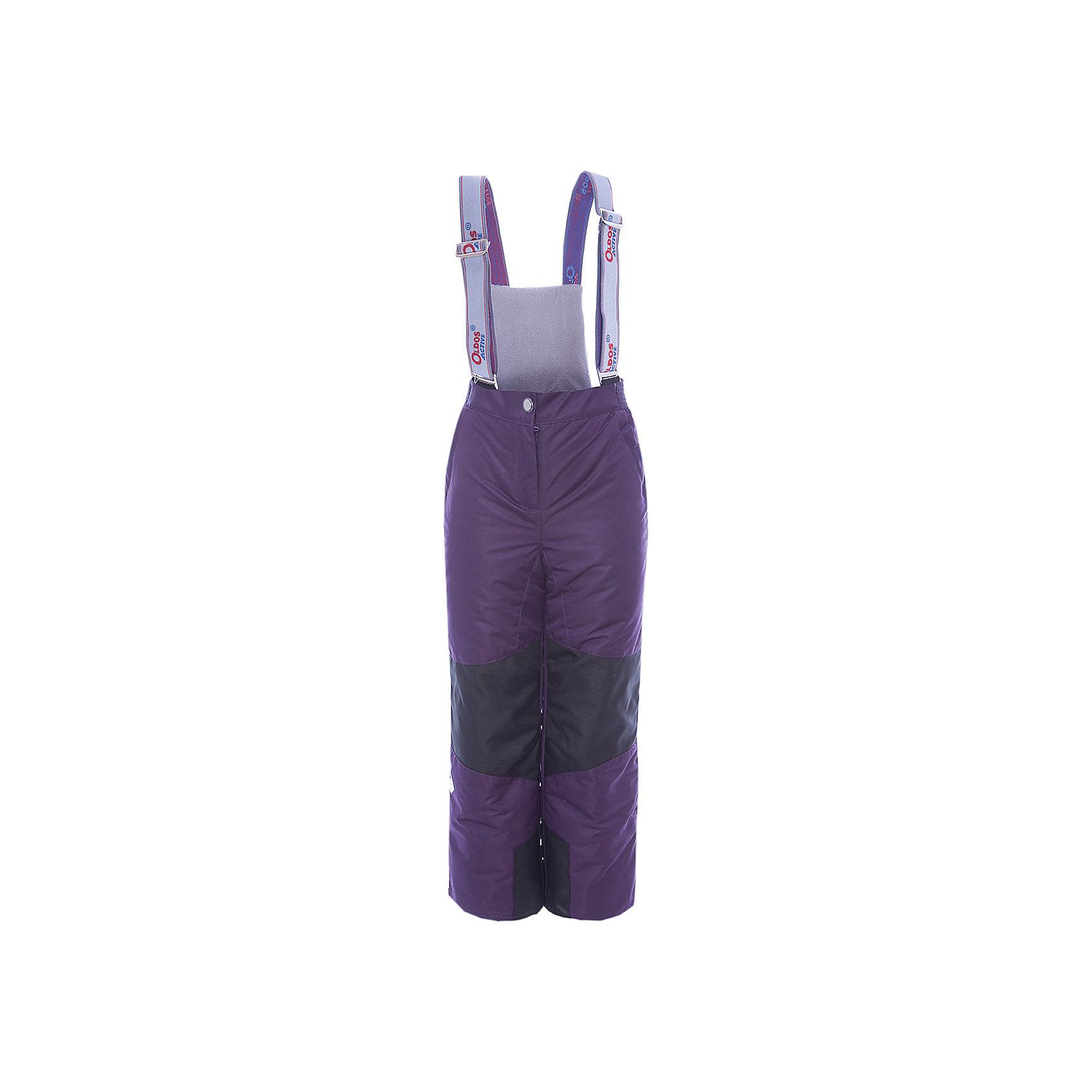 Брюки Эмма OLDOS для девочкиВерхняя одежда<br>Характеристики товара:<br><br>• цвет: фиолетовый<br>• состав ткани: полиэстер, Teflon<br>• подкладка: полиэстер<br>• утеплитель: Hollofan pro<br>• сезон: зима<br>• мембранное покрытие<br>• температурный режим: от -30 до +5<br>• водонепроницаемость: 5000 мм <br>• паропроницаемость: 5000 г/м2<br>• плотность утеплителя: 150 г/м2<br>• застежка: молния, кнопка, липучка<br>• спинка с лямками: съемные<br>• износостойкая ткань по низу брючин<br>• страна бренда: Россия<br>• страна изготовитель: Россия<br><br>В этих детских брюках - тонкий гипоаллергенный утеплитель, который отлично удерживает тепло. Мембранный верх брюк создает комфортный для ребенка микроклимат. Зимние брюки Oldos имеют противоснежные муфты с антискользящей резинкой, усиление на коленях и внизу брючин от износа и съемную спинку с регулируемыми лямками.<br><br>Брюки Эмма Oldos (Олдос) для девочки можно купить в нашем интернет-магазине.<br><br>Ширина мм: 215<br>Глубина мм: 88<br>Высота мм: 191<br>Вес г: 336<br>Цвет: лиловый<br>Возраст от месяцев: 132<br>Возраст до месяцев: 144<br>Пол: Женский<br>Возраст: Детский<br>Размер: 152,92,98,104,110,116,122,128,134,140,146<br>SKU: 7015874