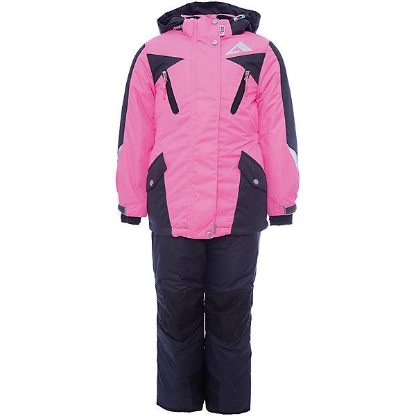 Комплект: куртка и полукомбинезон Авелина OLDOS ACTIVE для девочкиВерхняя одежда<br>Характеристики товара:<br><br>• цвет: черный<br>• комплектация: куртка и полукомбинезон<br>• состав ткани: полиэстер, Teflon<br>• подкладка: флис<br>• утеплитель: Hollofan pro<br>• сезон: зима<br>• мембрана<br>• температурный режим: от -30 до +5<br>• водонепроницаемость: 5000 мм <br>• паропроницаемость: 5000 г/м2<br>• плотность утеплителя: куртка - 200 г/м2, полукомбинезон - 150 г/м2<br>• застежка: молния<br>• капюшон: без меха, съемный<br>• полукомбинезон усилен износостойкими вставками<br>• страна бренда: Россия<br>• страна изготовитель: Россия<br><br>Этот комплект для ребенка имеет регулируемые детали для удобства ребенка. Детский зимний комплект создан с применением мембранной технологии. Модный комплект Oldos рассчитан даже на сильные морозы. Непромокаемый и непродуваемый верх комплекта для девочки создает комфортный для ребенка микроклимат. <br><br>Внешнее покрытие TEFLON - защита от воды и грязи, износостойкость, за изделием легко ухаживать. Мембрана 5000/5000 обеспечивает водонепроницаемость, одежда дышит. Гипоаллергенный утеплитель HOLLOFAN PRO  200/150 г/м2 - эффективно удерживает тепло и дарит свободу движения. Подкладка - флис, в рукавах и брючинах – гладкий полиэстер. <br><br>Карманы на молнии, внутренний карман с нашивкой-потеряшкой. Полукомбинезон приталенный. Костюм имеет светоотражающие элементы. Изделие прекрасно защитит от ветра и снега, т.к. имеет ряд особенностей. В куртке: съемный капюшон с регулировкой объема, воротник-стойка, ветрозащитные планки, снего-ветрозащитная юбка. <br><br>Манжеты на рукавах регулируются по ширине, есть эластичные манжеты с отверстием для большого пальца. Низ куртки регулируется по ширине. В полукомбинезоне: широкие эластичные регулируемые подтяжки, карманы, усиление в местах износа, снего-ветрозащитные муфты.<br><br>Комплект: куртка и полукомбинезон Авелина Oldos (Олдос) для девочки можно купить в нашем интернет-магазине.<br><br>Ширин