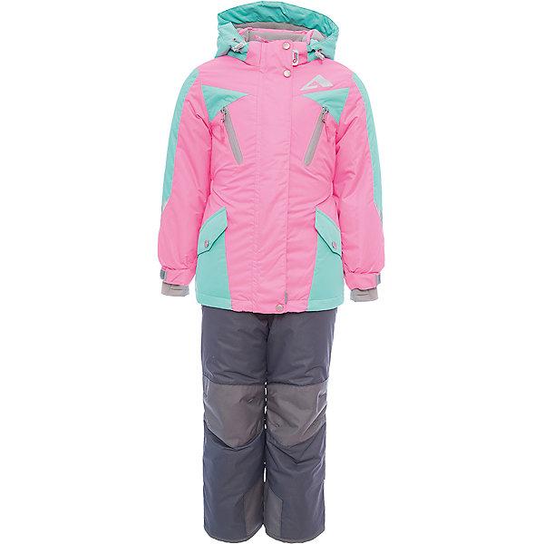 Комплект: куртка и полукомбинезон Авелина OLDOS ACTIVE для девочкиВерхняя одежда<br>Характеристики товара:<br><br>• цвет: розовый<br>• комплектация: куртка и полукомбинезон<br>• состав ткани: полиэстер, Teflon<br>• подкладка: флис<br>• утеплитель: Hollofan pro<br>• сезон: зима<br>• мембрана<br>• температурный режим: от -30 до +5<br>• водонепроницаемость: 5000 мм <br>• паропроницаемость: 5000 г/м2<br>• плотность утеплителя: куртка - 200 г/м2, полукомбинезон - 150 г/м2<br>• застежка: молния<br>• капюшон: без меха, съемный<br>• полукомбинезон усилен износостойкими вставками<br>• страна бренда: Россия<br>• страна изготовитель: Россия<br><br>Стильный зимний комплект от бренда Oldos отличается мягкой подкладкой, прочным верхом и теплым наполнителем. Яркий комплект для девочки дополнен элементами, помогающими подогнать его размер под ребенка. Детский комплект благодаря мембранной технологии рассчитан даже на сильные морозы. <br><br>Внешнее покрытие TEFLON - защита от воды и грязи, износостойкость, за изделием легко ухаживать. Мембрана 5000/5000 обеспечивает водонепроницаемость, одежда дышит. Гипоаллергенный утеплитель HOLLOFAN PRO  200/150 г/м2 - эффективно удерживает тепло и дарит свободу движения. Подкладка - флис, в рукавах и брючинах – гладкий полиэстер. <br><br>Карманы на молнии, внутренний карман с нашивкой-потеряшкой. Полукомбинезон приталенный. Костюм имеет светоотражающие элементы. Изделие прекрасно защитит от ветра и снега, т.к. имеет ряд особенностей. В куртке: съемный капюшон с регулировкой объема, воротник-стойка, ветрозащитные планки, снего-ветрозащитная юбка. <br><br>Манжеты на рукавах регулируются по ширине, есть эластичные манжеты с отверстием для большого пальца. Низ куртки регулируется по ширине. В полукомбинезоне: широкие эластичные регулируемые подтяжки, карманы, усиление в местах износа, снего-ветрозащитные муфты.<br><br>Комплект: куртка и полукомбинезон Авелина Oldos (Олдос) для девочки можно купить в нашем интернет-магазине.<br>Ширина мм: 356; Глуби