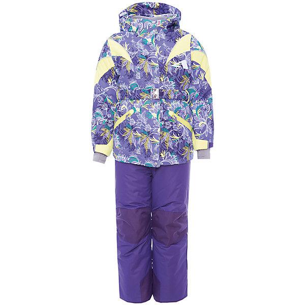 Комплект: куртка и полукомбинезон Дазирэ OLDOS ACTIVE для девочкиВерхняя одежда<br>Характеристики товара:<br><br>• цвет: фиолетовый<br>• комплектация: куртка и полукомбинезон<br>• состав ткани: полиэстер, Teflon<br>• подкладка: флис<br>• утеплитель: Hollofan pro<br>• сезон: зима<br>• мембрана<br>• температурный режим: от -30 до +5<br>• водонепроницаемость: 5000 мм <br>• паропроницаемость: 5000 г/м2<br>• плотность утеплителя: куртка - 200 г/м2, полукомбинезон - 150 г/м2<br>• застежка: молния<br>• капюшон: без меха, съемный<br>• полукомбинезон усилен износостойкими вставками<br>• страна бренда: Россия<br>• страна изготовитель: Россия<br><br>Непромокаемый и непродуваемый верх комплекта для девочки создает комфортный для ребенка микроклимат. Этот комплект для ребенка имеет регулируемые детали для удобства ребенка. Детский зимний комплект создан с применением мембранной технологии. Модный комплект Oldos дополнен светоотражающими элементами.<br><br>Внешнее покрытие TEFLON - защита от воды и грязи, износостойкость, за изделием легко ухаживать. Мембрана 5000/5000 обеспечивает водонепроницаемость, одежда дышит. Гипоаллергенный утеплитель HOLLOFAN PRO  200/150 г/м2 - эффективно удерживает тепло и дарит свободу движения. Подкладка - флис, в рукавах и брючинах – гладкий полиэстер. <br><br>Карманы на молнии, внутренний карман с нашивкой-потеряшкой, пояс. Полукомбинезон приталенный. Костюм имеет светоотражающие элементы. Изделие прекрасно защитит от ветра и снега, т.к. имеет ряд особенностей. В куртке: съемный капюшон с регулировкой объема, воротник-стойка, ветрозащитные планки, снего-ветрозащитная юбка. <br><br>Манжеты на рукавах регулируются по ширине, есть эластичные манжеты с отверстием для большого пальца. Низ куртки регулируется по ширине. В полукомбинезоне: широкие эластичные регулируемые подтяжки, карманы, усиления в местах износа, защитные муфты.<br><br>Комплект: куртка и полукомбинезон Дазирэ Oldos (Олдос) для девочки можно купить в нашем интернет-магазине.<br>Ширина мм