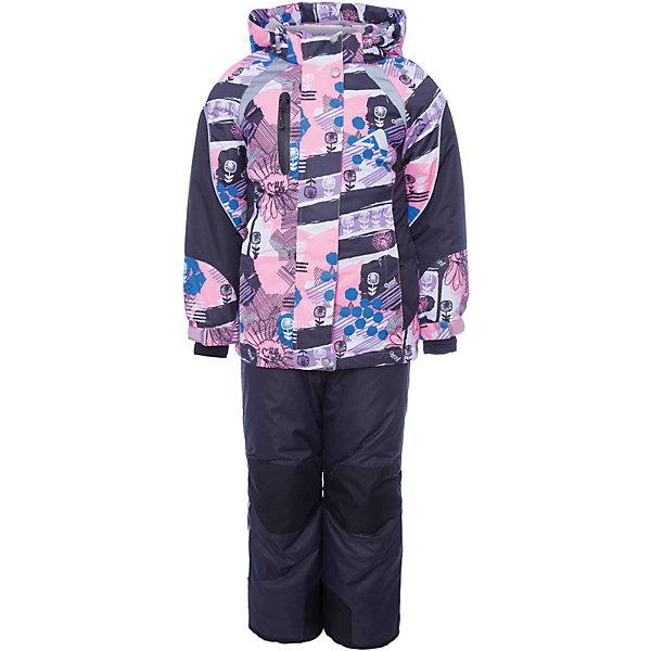 Комплект: куртка и полукомбинезон Аннабель OLDOS ACTIVE для девочкиВерхняя одежда<br>Характеристики товара:<br><br>• цвет: розовый<br>• комплектация: куртка и полукомбинезон<br>• состав ткани: полиэстер, Teflon<br>• подкладка: флис<br>• утеплитель: Hollofan pro<br>• сезон: зима<br>• мембрана<br>• температурный режим: от -30 до +5<br>• водонепроницаемость: 5000 мм <br>• паропроницаемость: 5000 г/м2<br>• плотность утеплителя: куртка - 200 г/м2, полукомбинезон - 150 г/м2<br>• застежка: молния<br>• капюшон: без меха, съемный<br>• полукомбинезон усилен износостойкими вставками<br>• страна бренда: Россия<br>• страна изготовитель: Россия<br><br>Детский зимний комплект создан с применением мембранной технологии, поэтому рассчитан даже на сильные морозы и ветра. Подкладка детского зимнего комплекта - флис, в рукавах и брючинах – гладкий полиэстер. Детский комплект для девочки дополнен элементами, помогающими скорректировать размер точно под ребенка. <br><br>Внешнее покрытие TEFLON - защита от воды и грязи, износостойкость, за изделием легко ухаживать. Мембрана 5000/5000 обеспечивает водонепроницаемость, одежда дышит. Гипоаллергенный утеплитель HOLLOFAN PRO  200/150 г/м2 - эффективно удерживает тепло и дарит свободу движения. Подкладка - флис, в рукавах и брючинах – гладкий полиэстер. Карманы на молнии, внутренний карман с нашивкой-потеряшкой. <br><br>Полукомбинезон приталенный. Костюм имеет светоотражающие элементы. Изделие прекрасно защитит от ветра и снега, так как имеет ряд особенностей. В куртке: съемный капюшон с регулировкой объема, воротник-стойка, ветрозащитные планки, снего-ветрозащитная юбка. Манжеты на рукавах регулируются по ширине, есть эластичные манжеты с отверстием для большого пальца. Низ куртки регулируется по ширине. В полукомбинезоне: широкие эластичные регулируемые подтяжки, карманы, усиления в местах износа, снего-ветрозащитные муфты. <br><br>Комплект: куртка и полукомбинезон Лора Oldos (Олдос) для девочки можно купить в нашем интернет-магазине.<br>Шири