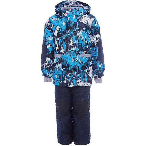 Комплект: куртка и полукомбинезон Коналл OLDOS для мальчикаВерхняя одежда<br>Характеристики товара:<br><br>• цвет: синий<br>• комплектация: куртка и полукомбинезон<br>• состав ткани: полиэстер, Teflon<br>• подкладка: флис<br>• утеплитель: Hollofan pro<br>• сезон: зима<br>• мембрана<br>• температурный режим: от -30 до +5<br>• водонепроницаемость: 5000 мм <br>• паропроницаемость: 5000 г/м2<br>• плотность утеплителя: куртка - 200 г/м2, полукомбинезон - 150 г/м2<br>• застежка: молния<br>• капюшон: без меха, съемный<br>• полукомбинезон усилен износостойкими вставками<br>• страна бренда: Россия<br>• страна изготовитель: Россия<br><br>Яркий мембранный комплект для мальчика дополнен элементами, помогающими подогнать его размер под ребенка. Прочное мембранное покрытие такого детского комплекта - это защита от воды и грязи, износостойкость, за ним легко ухаживать. Теплый зимний комплект от бренда Oldos разработан специально для детей.<br><br>Внешнее покрытие TEFLON - защита от воды и грязи, износостойкость, за изделием легко ухаживать. Мембрана 5000/5000 обеспечивает водонепроницаемость, одежда дышит. Гипоаллергенный утеплитель HOLLOFAN PRO  200/150 г/м2 - эффективно удерживает тепло и дарит свободу движения. Подкладка - флис, в рукавах и брючинах – гладкий полиэстер. <br><br>Карманы на молнии, внутренний карман с нашивкой-потеряшкой. Полукомбинезон приталенный. Костюм имеет светоотражающие элементы. Изделие прекрасно защитит от ветра и снега, т.к. имеет ряд особенностей. В куртке: съемный капюшон с регулировкой объема, воротник-стойка, ветрозащитные планки, снего-ветрозащитная юбка. <br><br>Манжеты на рукавах регулируются по ширине, есть эластичные манжеты с отверстием для большого пальца. Низ куртки регулируется по ширине. В полукомбинезоне: широкие эластичные регулируемые подтяжки, карманы, усиления в местах износа, снего-ветрозащитные муфты.<br><br>Комплект: куртка и полукомбинезон Коналл Oldos (Олдос) для мальчика можно купить в нашем интернет-магазине.<br>Ширина мм: 356