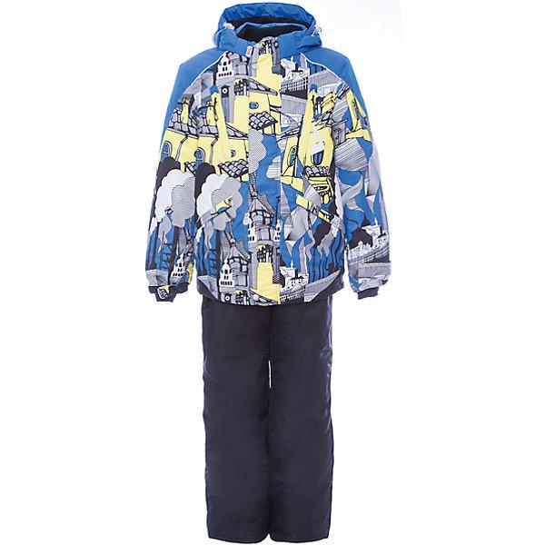 Комплект: куртка и полукомбинезон Даниэль OLDOS для мальчикаВерхняя одежда<br>Характеристики товара:<br><br>• цвет: голубой<br>• комплектация: куртка и полукомбинезон<br>• состав ткани: полиэстер, Teflon<br>• подкладка: флис<br>• утеплитель: Hollofan pro<br>• сезон: зима<br>• мембрана<br>• температурный режим: от -30 до +5<br>• водонепроницаемость: 5000 мм <br>• паропроницаемость: 5000 г/м2<br>• плотность утеплителя: куртка - 200 г/м2, полукомбинезон - 150 г/м2<br>• застежка: молния<br>• капюшон: без меха, съемный<br>• полукомбинезон усилен износостойкими вставками<br>• страна бренда: Россия<br>• страна изготовитель: Россия<br><br>Яркий мембранный комплект для мальчика дополнен удобными элементами: съемный капюшон с регулировкой объема, воротник-стойка, ветрозащитные планки, снего-ветрозащитная юбка Прочное мембранное покрытие такого детского комплекта - это защита от воды и грязи, износостойкость, за ним легко ухаживать. Теплый зимний комплект от бренда Oldos разработан специально для детей.<br><br>Внешнее покрытие TEFLON - защита от воды и грязи, износостойкость, за изделием легко ухаживать. Мембрана 5000/5000 обеспечивает водонепроницаемость, одежда дышит. Гипоаллергенный утеплитель HOLLOFAN PRO  200/150 г/м2 - эффективно удерживает тепло и дарит свободу движения. Подкладка - флис, в рукавах и брючинах – гладкий полиэстер. <br><br>Карманы на молнии, внутренний карман с нашивкой-потеряшкой. Полукомбинезон приталенный. Костюм имеет светоотражающие элементы. Изделие прекрасно защитит от ветра и снега, т.к. имеет ряд особенностей. В куртке: съемный капюшон с регулировкой объема, воротник-стойка, ветрозащитные планки, снего-ветрозащитная юбка. <br><br>Манжеты на рукавах регулируются по ширине, есть эластичные манжеты с отверстием для большого пальца. Низ куртки регулируется по ширине. В полукомбинезоне: широкие эластичные регулируемые подтяжки, карманы, усиления в местах износа, снего-ветрозащитные муфты.<br><br>Комплект: куртка и полукомбинезон Даниэль Oldos (Олдос) 