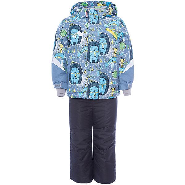 Комплект: куртка и полукомбинезон Арни OLDOS для мальчикаВерхняя одежда<br>Характеристики товара:<br><br>• цвет: серый<br>• комплектация: куртка и полукомбинезон<br>• состав ткани: полиэстер, Teflon<br>• подкладка: флис<br>• утеплитель: Hollofan pro<br>• сезон: зима<br>• мембрана<br>• температурный режим: от -30 до +5<br>• водонепроницаемость: 5000 мм <br>• паропроницаемость: 5000 г/м2<br>• плотность утеплителя: куртка - 200 г/м2, полукомбинезон - 150 г/м2<br>• застежка: молния<br>• капюшон: без меха, съемный<br>• полукомбинезон усилен износостойкими вставками<br>• страна бренда: Россия<br>• страна изготовитель: Россия<br><br>Манжеты на рукавах этого детского комплекта регулируются по ширине, есть эластичные манжеты с отверстием для большого пальца. Подкладка зимнего комплекта - флис, в рукавах и брючинах – гладкий полиэстер. Детский комплект для мальчика дополнен элементами, помогающими скорректировать размер точно под ребенка. <br><br>Внешнее покрытие TEFLON - защита от воды и грязи, износостойкость, за изделием легко ухаживать. Мембрана 5000/5000 обеспечивает водонепроницаемость, одежда дышит. Гипоаллергенный утеплитель HOLLOFAN PRO  200/150 г/м2 - эффективно  удерживает тепло и дарит свободу движения. Подкладка - флис, в рукавах и брючинах – гладкий полиэстер. <br><br>Карманы на молнии, внутренний карман с нашивкой-потеряшкой. Полукомбинезон приталенный. Костюм имеет светоотражающие элементы. Изделие прекрасно защитит от ветра и снега, т.к. имеет ряд особенностей. В куртке: съемный капюшон с регулировкой объема, воротник-стойка, ветрозащитные планки, снего-ветрозащитная юбка. <br><br>Манжеты на рукавах регулируются по ширине, есть эластичные манжеты с отверстием для большого пальца. Низ куртки регулируется по ширине. В полукомбинезоне: широкие эластичные регулируемые подтяжки, карманы, усиления в местах износа, снего-ветрозащитные муфты.<br><br>Комплект: куртка и полукомбинезон Арни Oldos (Олдос) для мальчика можно купить в нашем интернет-магазине.<br><br>Ширина