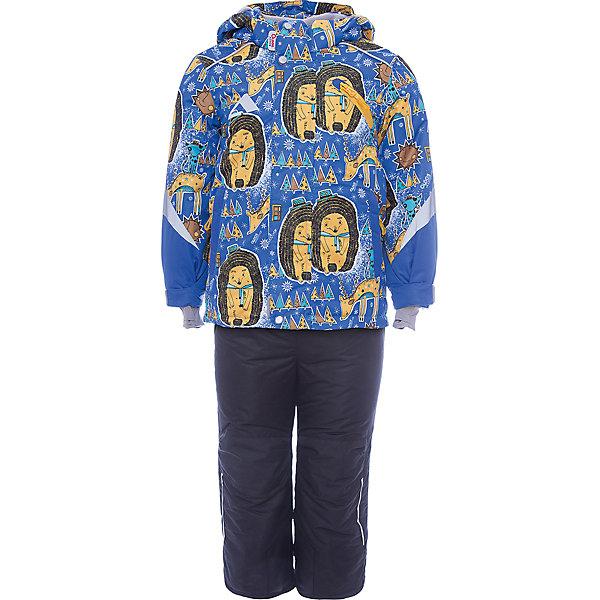 Комплект: куртка и полукомбинезон Арни OLDOS для мальчикаВерхняя одежда<br>Характеристики товара:<br><br>• цвет: синий<br>• комплектация: куртка и полукомбинезон<br>• состав ткани: полиэстер, Teflon<br>• подкладка: флис<br>• утеплитель: Hollofan pro<br>• сезон: зима<br>• мембрана<br>• температурный режим: от -30 до +5<br>• водонепроницаемость: 5000 мм <br>• паропроницаемость: 5000 г/м2<br>• плотность утеплителя: куртка - 200 г/м2, полукомбинезон - 150 г/м2<br>• застежка: молния<br>• капюшон: без меха, съемный<br>• полукомбинезон усилен износостойкими вставками<br>• страна бренда: Россия<br>• страна изготовитель: Россия<br><br>Мембранный верх комплекта для девочки создает комфортный для ребенка микроклимат - обеспечивает детскому комплекту водонепроницаемость, при этом одежда дышит. Стильный комплект для ребенка имеет регулируемые детали для удобства ребенка. Теплый детский комплект состоит из куртки и полукомбинезона. <br><br>Внешнее покрытие TEFLON - защита от воды и грязи, износостойкость, за изделием легко ухаживать. Мембрана 5000/5000 обеспечивает водонепроницаемость, одежда дышит. Гипоаллергенный утеплитель HOLLOFAN PRO  200/150 г/м2 - эффективно  удерживает тепло и дарит свободу движения. Подкладка - флис, в рукавах и брючинах – гладкий полиэстер. <br><br>Карманы на молнии, внутренний карман с нашивкой-потеряшкой. Полукомбинезон приталенный. Костюм имеет светоотражающие элементы. Изделие прекрасно защитит от ветра и снега, т.к. имеет ряд особенностей. В куртке: съемный капюшон с регулировкой объема, воротник-стойка, ветрозащитные планки, снего-ветрозащитная юбка. <br><br>Манжеты на рукавах регулируются по ширине, есть эластичные манжеты с отверстием для большого пальца. Низ куртки регулируется по ширине. В полукомбинезоне: широкие эластичные регулируемые подтяжки, карманы, усиления в местах износа, снего-ветрозащитные муфты.<br><br>Комплект: куртка и полукомбинезон Арни Oldos (Олдос) для мальчика можно купить в нашем интернет-магазине.<br><br>Ширина мм: 356<br