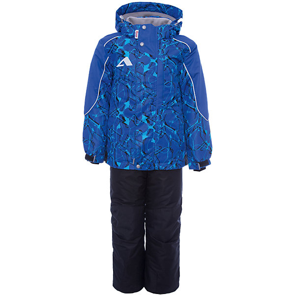 Комплект: куртка и полукомбинезон Нерон OLDOS для мальчикаВерхняя одежда<br>Характеристики товара:<br><br>• цвет: синий<br>• комплектация: куртка и полукомбинезон<br>• состав ткани: полиэстер, Teflon<br>• подкладка: флис<br>• утеплитель: Hollofan pro<br>• сезон: зима<br>• мембрана<br>• температурный режим: от -30 до +5<br>• водонепроницаемость: 5000 мм <br>• паропроницаемость: 5000 г/м2<br>• плотность утеплителя: куртка - 200 г/м2, полукомбинезон - 150 г/м2<br>• застежка: молния<br>• капюшон: без меха, съемный<br>• полукомбинезон усилен износостойкими вставками<br>• страна бренда: Россия<br>• страна изготовитель: Россия<br><br>Высокотехнологичное мембранное покрытие детского комплекта - это защита от воды и грязи, ветра, за ним легко ухаживать. Теплый зимний комплект от бренда Oldos разработан специально для детей. Мембранный комплект для мальчика дополнен удобными элементами: съемный капюшон, воротник-стойка, ветрозащитные планки, снего-ветрозащитная юбка. <br><br>Внешнее покрытие TEFLON - защита от воды и грязи, износостойкость, за изделием легко ухаживать. Мембрана 5000/5000 обеспечивает водонепроницаемость, одежда дышит. Гипоаллергенный утеплитель HOLLOFAN PRO  200/150 г/м2 - эффективно удерживает тепло и дарит свободу движения. Подкладка - флис, в рукавах и брючинах – гладкий полиэстер. <br><br>Карманы на молнии, внутренний карман с нашивкой-потеряшкой. Полукомбинезон приталенный. Костюм имеет светоотражающие элементы. Изделие прекрасно защитит от ветра и снега, т.к. имеет ряд особенностей. В куртке: съемный капюшон с регулировкой объема, воротник-стойка, ветрозащитные планки, снего-ветрозащитная юбка. <br><br>Манжеты на рукавах регулируются по ширине, есть эластичные манжеты с отверстием для большого пальца. Низ куртки регулируется по ширине. В полукомбинезоне: широкие эластичные регулируемые подтяжки, карманы, усиления в местах износа, снего-ветрозащитные муфты.<br><br>Комплект: куртка и полукомбинезон Нерон Oldos (Олдос) для мальчика можно купить в нашем инт