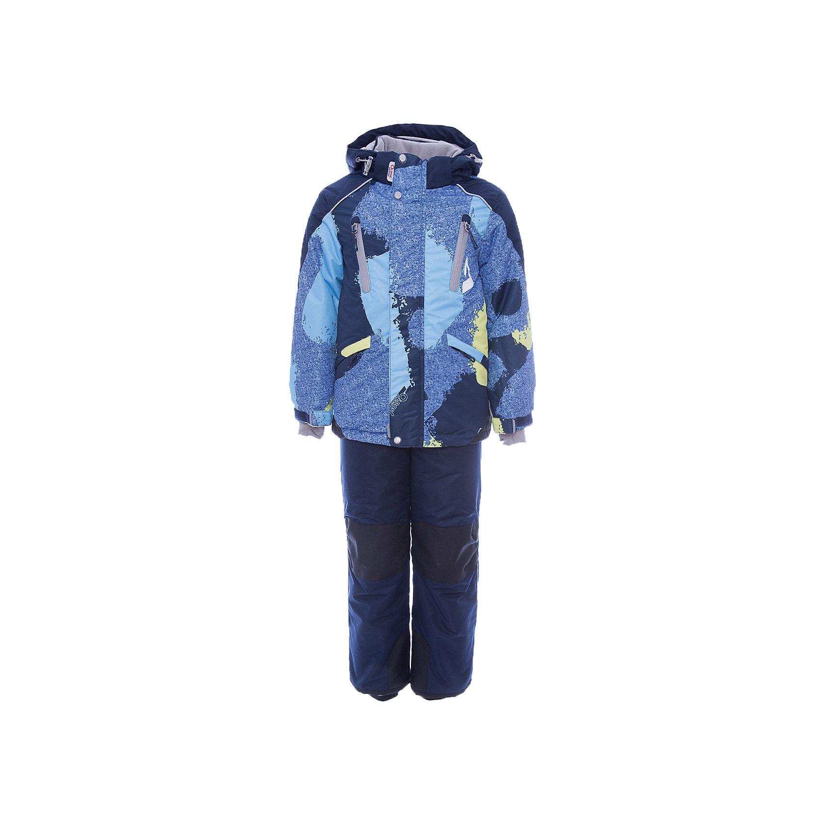 Комплект: куртка и полукомбинезон Вилсон OLDOS для мальчикаВерхняя одежда<br>Характеристики товара:<br><br>• цвет: голубой<br>• комплектация: куртка и полукомбинезон<br>• состав ткани: полиэстер, Teflon<br>• подкладка: флис<br>• утеплитель: Hollofan pro<br>• сезон: зима<br>• мембранное покрытие<br>• температурный режим: от -30 до +5<br>• водонепроницаемость: 5000 мм <br>• паропроницаемость: 5000 г/м2<br>• плотность утеплителя: куртка - 200 г/м2, полукомбинезон - 150 г/м2<br>• застежка: молния<br>• капюшон: без меха, съемный<br>• полукомбинезон усилен износостойкими вставками<br>• страна бренда: Россия<br>• страна изготовитель: Россия<br><br>Теплый комплект для ребенка имеет регулируемые детали для удобства ребенка. Зимний детский комплект состоит из теплой куртки и удобного полукомбинезона. Мембранный верх комплекта для девочки создает комфортный для ребенка микроклимат - обеспечивает детскому комплекту водонепроницаемость, при этом одежда дышит. <br><br>Комплект: куртка и полукомбинезон Вилсон Oldos (Олдос) для мальчика можно купить в нашем интернет-магазине.<br><br>Ширина мм: 356<br>Глубина мм: 10<br>Высота мм: 245<br>Вес г: 519<br>Цвет: голубой<br>Возраст от месяцев: 132<br>Возраст до месяцев: 144<br>Пол: Мужской<br>Возраст: Детский<br>Размер: 152,98,104,110,116,122,128,134,140,146<br>SKU: 7016275