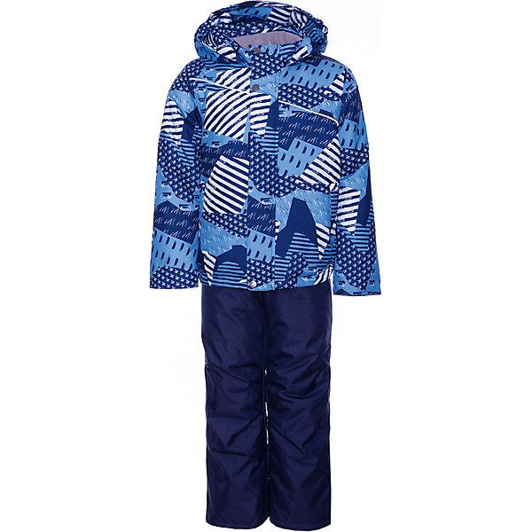 Комплект: куртка и полукомбинезон Кирус JICCO BY OLDOS для мальчикаВерхняя одежда<br>Характеристики товара:<br><br>• цвет: синий<br>• комплектация: куртка и полукомбинезон<br>• состав ткани: полиэстер<br>• подкладка: флис<br>• утеплитель: Hollofan <br>• сезон: зима<br>• температурный режим: от -30 до 0<br>• плотность утеплителя: куртка - 300 г/м2, полукомбинезон - 150 г/м2<br>• застежка: молния<br>• капюшон: без меха, несъемный<br>• страна бренда: Россия<br>• страна изготовитель: Россия<br><br>Детский зимний комплект из куртки и полукомбинезона выполнен в практичной стильной расцветке. Куртка для ребенка имеет рукава с отворотом и внутренней трикотажной саморегулирующейся манжетой. Полукомбинезон дополнен удобными эластичными регулируемыми подтяжками, по талии - резинка. <br><br>Внешняя ткань с водо-грязеотталкивающей пропиткой защитит от непогоды. Гипоаллергенный утеплитель нового поколения HOLLOFAN плотностью 300/150 г/м2 сохраняет тепло и быстро сохнет. Подкладка-флис, в рукавах и брючинах - гладкий полиэстер. Капюшон слитный, карманы на молнии. <br><br>Изделие прекрасно защитит от ветра и мороза, т.к. имеет ряд особенностей: воротник-стойка с флисовой вставкой, двойная ветрозащитная планка с защитой подбородка. Рукава с отворотом и внутренней трикотажной саморегулирующейся манжетой. Полукомбинезон с широкими эластичными регулируемыми по длине подтяжками, по талии вставлена резинка для прилегания. Изделие имеет светоотражающие элементы. <br><br>Комплект: куртка и полукомбинезон Кирус Oldos (Олдос) для мальчика можно купить в нашем интернет-магазине.<br><br>Ширина мм: 356<br>Глубина мм: 10<br>Высота мм: 245<br>Вес г: 519<br>Цвет: синий<br>Возраст от месяцев: 96<br>Возраст до месяцев: 108<br>Пол: Мужской<br>Возраст: Детский<br>Размер: 134,92,98,104,110,116,122,128<br>SKU: 7016441
