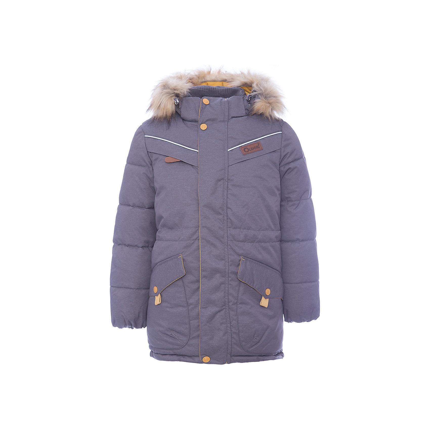 Куртка Жан OLDOS для мальчикаВерхняя одежда<br>Характеристики товара:<br><br>• цвет: черный<br>• состав ткани: 100% полиэстер, пропитка PU, Teflon<br>• подкладка: флис, полиэстер<br>• утеплитель: искусственный лебяжий пух<br>• сезон: зима<br>• температурный режим: от -35 до 0<br>• застежка: молния<br>• капюшон: с мехом, съемный<br>• страна бренда: Россия<br>• страна изготовитель: Россия<br><br>Зимняя куртка для ребенка обеспечит тепло и комфорт в холода благодаря качественному утеплителю и пропитке от воды и грязи. Эту детскую куртку легко чистить. Стильная куртка для ребенка дополнена функциональными элементами: отстегивающейся опушкой и капюшоном, карманами, воротником-стойкой, ветрозащитной планкой. <br><br>Куртку Жан Oldos (Олдос) для мальчика можно купить в нашем интернет-магазине.<br><br>Ширина мм: 356<br>Глубина мм: 10<br>Высота мм: 245<br>Вес г: 519<br>Цвет: черный<br>Возраст от месяцев: 144<br>Возраст до месяцев: 156<br>Пол: Мужской<br>Возраст: Детский<br>Размер: 158,152,122,128,134,140,146<br>SKU: 7016586