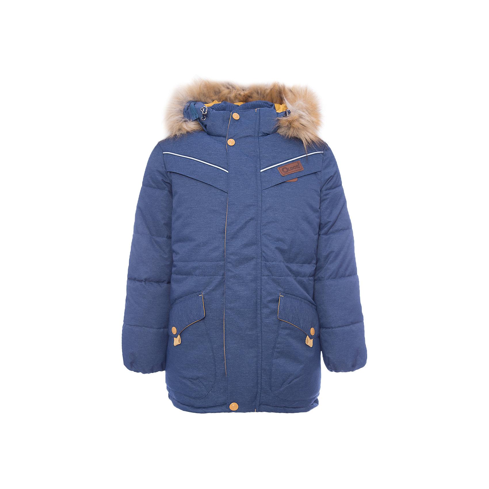 Куртка Жан OLDOS для мальчикаВерхняя одежда<br>Характеристики товара:<br><br>• цвет: синий<br>• состав ткани: 100% полиэстер, пропитка PU, Teflon<br>• подкладка: флис, полиэстер<br>• утеплитель: искусственный лебяжий пух<br>• сезон: зима<br>• температурный режим: от -35 до 0<br>• застежка: молния<br>• капюшон: с мехом, съемный<br>• страна бренда: Россия<br>• страна изготовитель: Россия<br><br>Зимняя куртка для ребенка дополнена функциональными элементами, помогающими надежно защитить ребенка от снега и холода. Теплая куртка для ребенка обеспечит тепло и комфорт в холода благодаря качественному утеплителю и пропитке от воды и грязи. Эту детскую куртку легко чистить. <br><br>Куртку Жан Oldos (Олдос) для мальчика можно купить в нашем интернет-магазине.<br><br>Ширина мм: 356<br>Глубина мм: 10<br>Высота мм: 245<br>Вес г: 519<br>Цвет: синий<br>Возраст от месяцев: 132<br>Возраст до месяцев: 144<br>Пол: Мужской<br>Возраст: Детский<br>Размер: 152,122,158,146,140,134,128<br>SKU: 7016590