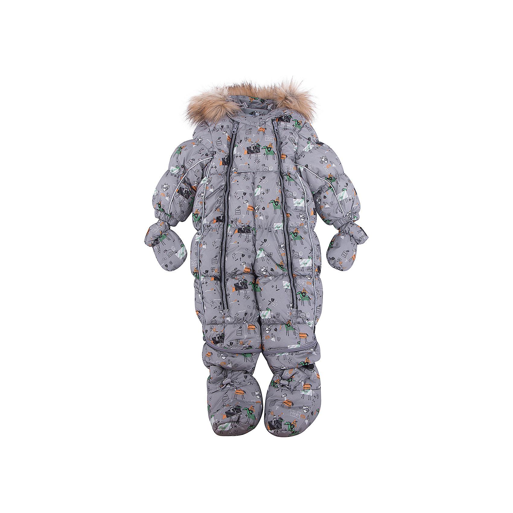 Комбинезон-трансформер Морис OLDOS для мальчикаВерхняя одежда<br>Характеристики товара:<br><br>• цвет: серый<br>• состав ткани: 100% полиэстер, пропитка PU, Teflon<br>• подкладка: хлопок<br>• утеплитель: искусственный лебяжий пух<br>• сезон: зима<br>• температурный режим: от -35 до 0<br>• застежка: молния<br>• капюшон: с мехом, несъемный<br>• пинетки, варежки, опушка отстегиваются<br>• трансформируется в конверт<br>• страна бренда: Россия<br>• страна изготовитель: Россия<br><br>Верх этого детского комбинезона - с пропиткой от грязи и влаги. Мягкая подкладка детского комбинезона-трансформера для зимы приятна на ощупь. Удобный комбинезон-трансформер для мальчика дополнен съемными пинетками и варежками. Комбинезон-трансформер позволяет создать комфортный микроклимат даже в сильные морозы.<br><br>Комбинезон-трансформер Морис Oldos (Олдос) для мальчика можно купить в нашем интернет-магазине.<br><br>Ширина мм: 356<br>Глубина мм: 10<br>Высота мм: 245<br>Вес г: 519<br>Цвет: серый<br>Возраст от месяцев: 6<br>Возраст до месяцев: 9<br>Пол: Мужской<br>Возраст: Детский<br>Размер: 74,86,80<br>SKU: 7016608