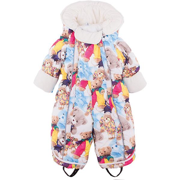 Комбинезон-трансформер Джереми OLDOS для девочкиВерхняя одежда<br>Характеристики товара:<br><br>• цвет: белый<br>• состав ткани: 100% полиэстер, пропитка PU, Teflon<br>• подкладка: хлопок<br>• утеплитель: искусственный лебяжий пух<br>• сезон: зима<br>• температурный режим: от -35 до 0<br>• застежка: молния<br>• капюшон: без меха, несъемный<br>• пинетки отстегиваются<br>• трансформируется в конверт<br>• страна бренда: Россия<br>• страна изготовитель: Россия<br><br>Комбинезон-трансформер позволяет создать комфортный микроклимат даже в сильные морозы. Верх детского комбинезона со специальной пропиткой. Мягкая подкладка детского комбинезона-трансформера для зимы приятна на ощупь. Теплый комбинезон-трансформер дополнен съемными пинетками, пристегивающимися с помощью кнопок. <br><br>Внешнее покрытие Teflon - защита от воды и грязи, износостойкость, за изделием легко ухаживать. Современный утеплитель - лебяжий пух искусственный: легкий, как натуральный, сохраняет тепло, не впитывает влагу, держит и быстро восстанавливает объем, гипоаллергенен. Подкладка - натуральный хлопок.<br><br>Капюшон слитный, хорошо прилегает благодаря резинке. В области подбородка есть мягкий отворот для защиты от натирания и дополнительного комфорта. Есть светоотражающие элементы, съемные эластичные штрипки, внутренние трикотажные манжеты в рукавах. На рукавах есть отвороты-царапки, позволяющие закрыть руки и ноги.Пока ребенок маленький - удобно использовать в виде конверта, а когда подрастет -  носить полноценный комбинезон.<br><br>Комбинезон-трансформер Джереми Oldos (Олдос) можно купить в нашем интернет-магазине.<br><br>Ширина мм: 356<br>Глубина мм: 10<br>Высота мм: 245<br>Вес г: 519<br>Цвет: белый<br>Возраст от месяцев: 3<br>Возраст до месяцев: 6<br>Пол: Женский<br>Возраст: Детский<br>Размер: 68,80,74,86<br>SKU: 7016612