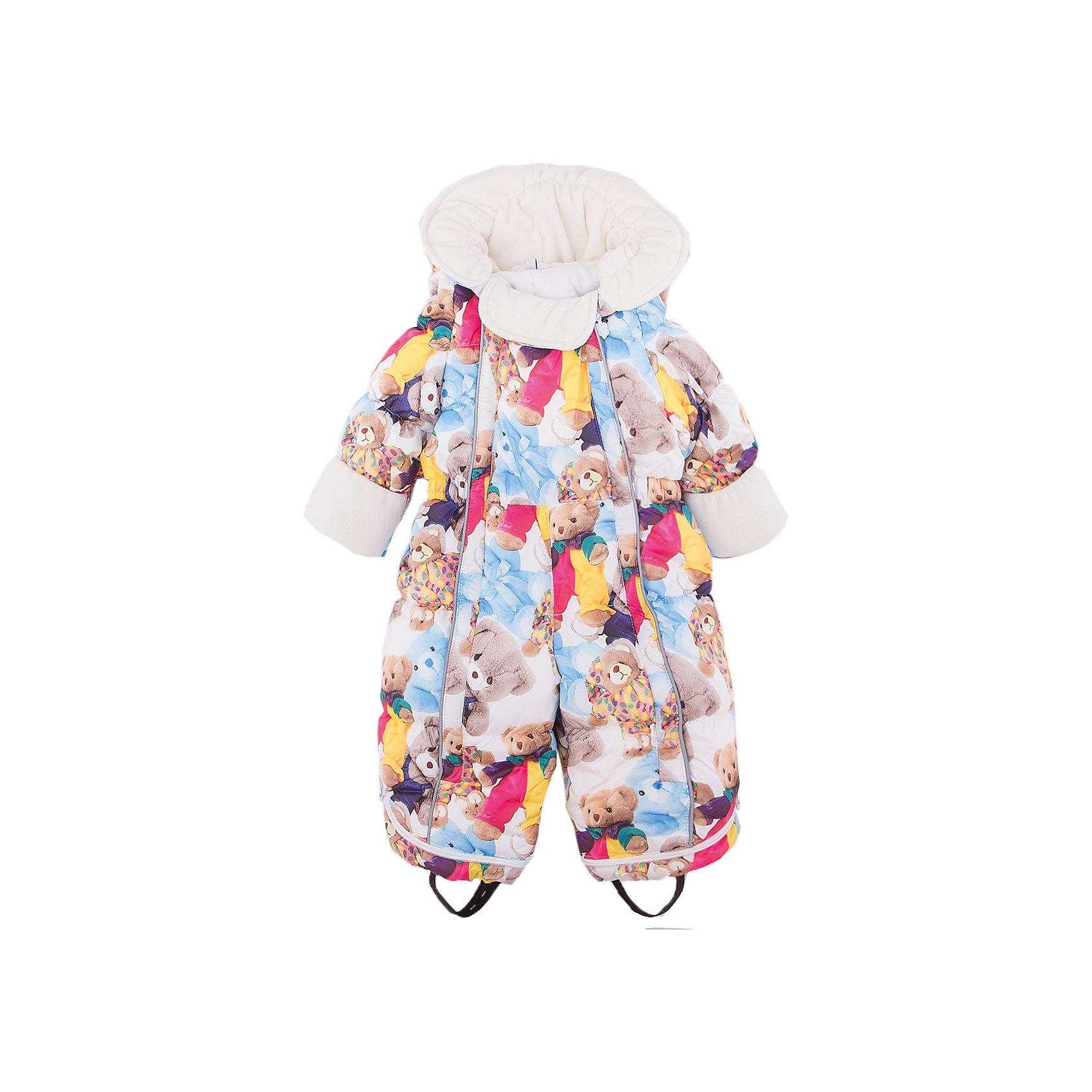Комбинезон-трансформер Джереми OLDOSВерхняя одежда<br>Характеристики товара:<br><br>• цвет: белый<br>• состав ткани: 100% полиэстер, пропитка PU, Teflon<br>• подкладка: хлопок<br>• утеплитель: искусственный лебяжий пух<br>• сезон: зима<br>• температурный режим: от -35 до 0<br>• застежка: молния<br>• капюшон: без меха, несъемный<br>• пинетки отстегиваются<br>• трансформируется в конверт<br>• страна бренда: Россия<br>• страна изготовитель: Россия<br><br>Комбинезон-трансформер позволяет создать комфортный микроклимат даже в сильные морозы. Верх детского комбинезона со специальной пропиткой. Мягкая подкладка детского комбинезона-трансформера для зимы приятна на ощупь. Теплый комбинезон-трансформер дополнен съемными пинетками, пристегивающимися с помощью кнопок. <br><br>Комбинезон-трансформер Джереми Oldos (Олдос) можно купить в нашем интернет-магазине.<br><br>Ширина мм: 356<br>Глубина мм: 10<br>Высота мм: 245<br>Вес г: 519<br>Цвет: белый<br>Возраст от месяцев: 12<br>Возраст до месяцев: 18<br>Пол: Унисекс<br>Возраст: Детский<br>Размер: 86,68,74<br>SKU: 7016612