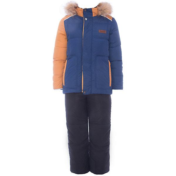 Комплект: куртка и полукомбинезон Уолтер OLDOS для мальчикаВерхняя одежда<br>Характеристики товара:<br><br>• цвет: синий<br>• комплектация: куртка и полукомбинезон<br>• состав ткани: 100% полиэстер, пропитка PU, Teflon<br>• подкладка: флис, полиэстер<br>• утеплитель: куртка - искусственный лебяжий пух, полукомбинезон - Hollofan 200 г/м2<br>• сезон: зима<br>• температурный режим: от -35 до 0<br>• застежка: молния<br>• капюшон: с мехом, съемный<br>• страна бренда: Россия<br>• страна изготовитель: Россия<br><br>Зимний костюм для мальчика легко чистится благодаря специальной пропитке. Подкладка зимнего комплекта комбинированная: флис и гладкий полиэстер. Так комплект для ребенка легче надевать. Зимний костюм для мальчика дополнен элементами, помогающими скорректировать размер точно под ребенка. <br><br>Комплект: куртка и полукомбинезон Уолтер Oldos (Олдос) для мальчика можно купить в нашем интернет-магазине.<br>Ширина мм: 356; Глубина мм: 10; Высота мм: 245; Вес г: 519; Цвет: синий; Возраст от месяцев: 48; Возраст до месяцев: 60; Пол: Мужской; Возраст: Детский; Размер: 110,104,98,92,140,134,116,128,122; SKU: 7016770;