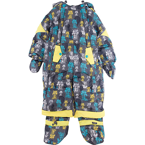 Комбинезон-трансформер Роботы OLDOS для мальчикаВерхняя одежда<br>Характеристики товара:<br><br>• цвет: серый<br>• состав ткани: 100% полиэстер, Teflon <br>• подкладка: хлопок<br>• утеплитель: Hollofan 200 г/м2<br>• подстежка: 60% шерсть, 40% полиэстер<br>• сезон: зима<br>• температурный режим: от -35 до 0<br>• застежка: молния<br>• капюшон: с мехом, несъемный<br>• пинетки, варежки, опушка отстегиваются<br>• трансформируется в конверт<br>• подстежка в комплекте<br>• страна бренда: Россия<br>• страна изготовитель: Россия<br><br>Комбинезон-трансформер декорирован оригинальным принтом. Верх детского комбинезона со специальной пропиткой. Мягкая подкладка детского комбинезона-трансформера для зимы приятна на ощупь. Теплый комбинезон-трансформер дополнен съемными пинетками, рукавичками и подстежкой. <br><br>Комбинезон-трансформер Роботы Oldos (Олдос) для мальчика можно купить в нашем интернет-магазине.<br><br>Ширина мм: 356<br>Глубина мм: 10<br>Высота мм: 245<br>Вес г: 519<br>Цвет: серый<br>Возраст от месяцев: 12<br>Возраст до месяцев: 18<br>Пол: Мужской<br>Возраст: Детский<br>Размер: 86,74,80<br>SKU: 7016805