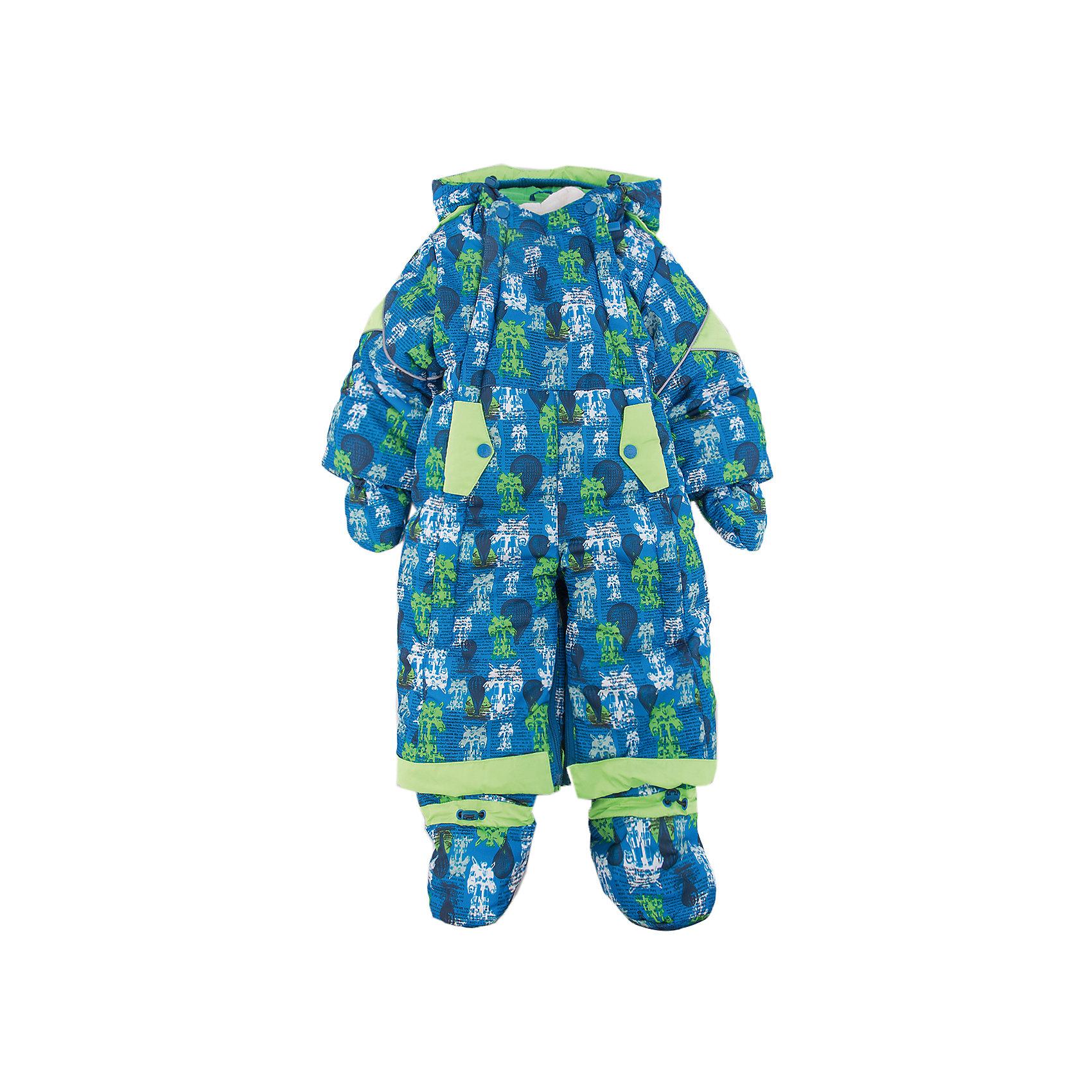 Комбинезон-трансформер Роботы OLDOS для мальчикаВерхняя одежда<br>Характеристики товара:<br><br>• цвет: синий<br>• состав ткани: 100% полиэстер, Teflon <br>• подкладка: хлопок<br>• утеплитель: Hollofan 200 г/м2<br>• подстежка: 60% шерсть, 40% полиэстер<br>• сезон: зима<br>• температурный режим: от -35 до 0<br>• застежка: молния<br>• капюшон: с мехом, несъемный<br>• пинетки, варежки, опушка отстегиваются<br>• трансформируется в конверт<br>• подстежка в комплекте<br>• страна бренда: Россия<br>• страна изготовитель: Россия<br><br>Верх детского комбинезона со специальной пропиткой от грязи и влаги. Мягкая подкладка детского комбинезона-трансформера для зимы приятна на ощупь. Модный комбинезон-трансформер для мальчика дополнен съемной подстежкой из шерсти. Комбинезон-трансформер позволяет создать комфортный микроклимат даже в сильные морозы.<br><br>Комбинезон-трансформер Роботы Oldos (Олдос) для мальчика можно купить в нашем интернет-магазине.<br><br>Ширина мм: 356<br>Глубина мм: 10<br>Высота мм: 245<br>Вес г: 519<br>Цвет: синий<br>Возраст от месяцев: 12<br>Возраст до месяцев: 18<br>Пол: Мужской<br>Возраст: Детский<br>Размер: 86,74,80<br>SKU: 7016809