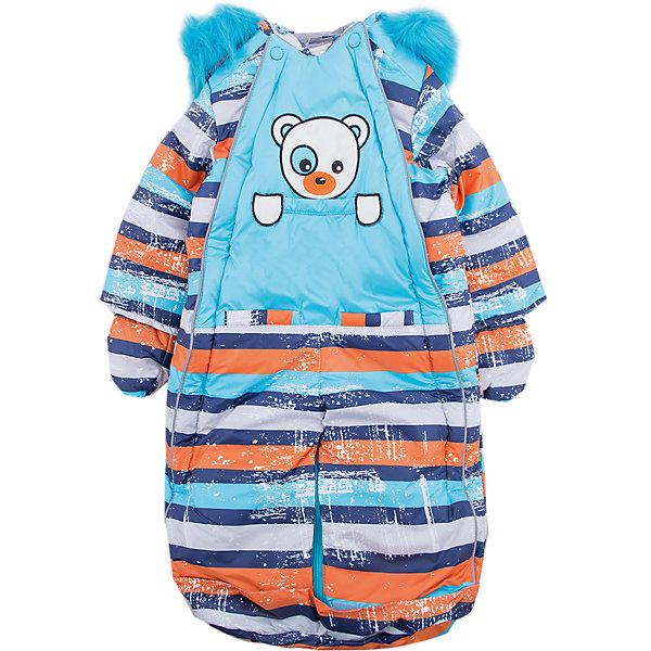 Комбинезон-трансформер Полосатый OLDOS для мальчикаВерхняя одежда<br>Характеристики товара:<br><br>• цвет: голубой<br>• состав ткани: 100% полиэстер, Teflon <br>• подкладка: хлопок<br>• утеплитель: Hollofan 200 г/м2<br>• подстежка: 60% шерсть, 40% полиэстер<br>• сезон: зима<br>• температурный режим: от -35 до 0<br>• застежка: молния<br>• капюшон: с мехом, несъемный<br>• пинетки, варежки, опушка отстегиваются<br>• трансформируется в конверт<br>• подстежка в комплекте<br>• страна бренда: Россия<br>• страна изготовитель: Россия<br><br>Этот детский комбинезон легко надевается благодаря удобной застежке. Мягкая подкладка детского комбинезона-трансформера для зимы приятна на ощупь. Модный комбинезон-трансформер для мальчика дополнен съемной подстежкой из шерсти. Комбинезон-трансформер позволяет создать комфортный микроклимат даже в сильные морозы.<br><br>Комбинезон-трансформер Полосатый Oldos (Олдос) для мальчика можно купить в нашем интернет-магазине.<br><br>Ширина мм: 356<br>Глубина мм: 10<br>Высота мм: 245<br>Вес г: 519<br>Цвет: голубой<br>Возраст от месяцев: 12<br>Возраст до месяцев: 18<br>Пол: Мужской<br>Возраст: Детский<br>Размер: 86,68,74,80<br>SKU: 7016823