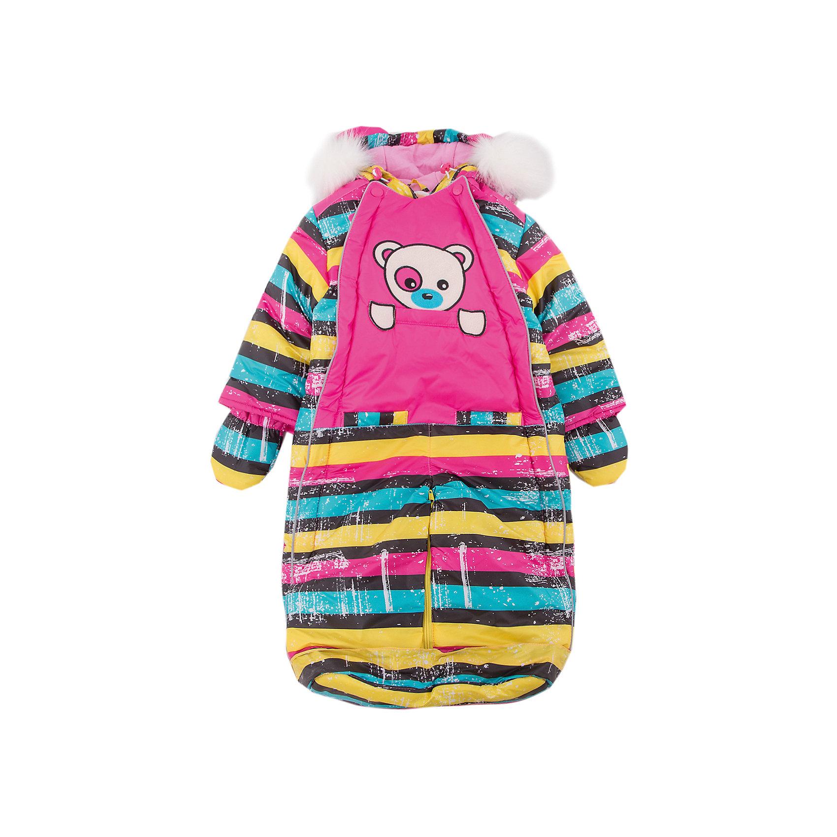 Комбинезон-трансформер Полосатый OLDOS для девочкиВерхняя одежда<br>Характеристики товара:<br><br>• цвет: розовый<br>• состав ткани: 100% полиэстер, Teflon <br>• подкладка: хлопок<br>• утеплитель: Hollofan 200 г/м2<br>• подстежка: 60% шерсть, 40% полиэстер<br>• сезон: зима<br>• температурный режим: от -35 до 0<br>• застежка: молния<br>• капюшон: с мехом, несъемный<br>• пинетки, варежки, опушка отстегиваются<br>• трансформируется в конверт<br>• подстежка в комплекте<br>• страна бренда: Россия<br>• страна изготовитель: Россия<br><br>Этот удобный комбинезон-трансформер для девочки дополнен съемными пинетками и варежками. Комбинезон-трансформер отличается оригинальным дизайном. Верх этого детского комбинезона - с пропиткой от грязи и влаги. Мягкая подкладка детского комбинезона-трансформера для зимы приятна на ощупь. <br><br>Комбинезон-трансформер Полосатый Oldos (Олдос) для девочки можно купить в нашем интернет-магазине.<br><br>Ширина мм: 356<br>Глубина мм: 10<br>Высота мм: 245<br>Вес г: 519<br>Цвет: розовый<br>Возраст от месяцев: 12<br>Возраст до месяцев: 18<br>Пол: Женский<br>Возраст: Детский<br>Размер: 86,68,74,80<br>SKU: 7016828