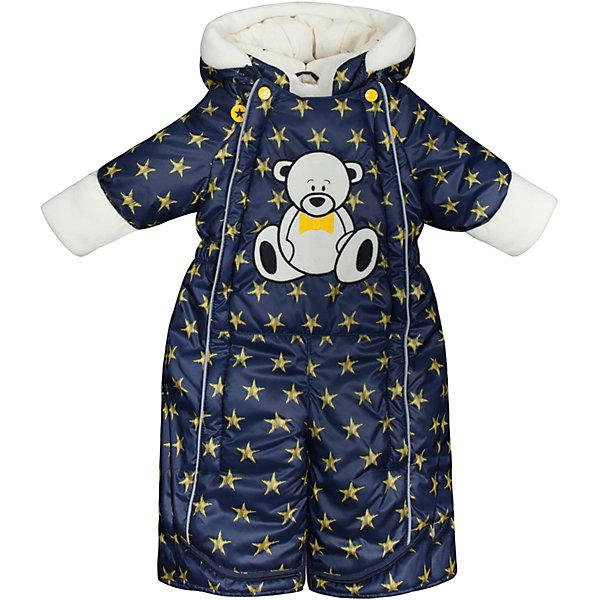 Комбинезон-трансформер Звездочка OLDOS для мальчикаВерхняя одежда<br>Характеристики товара:<br><br>• цвет: синий<br>• состав ткани: 100% полиэстер, Teflon <br>• подкладка: хлопок<br>• утеплитель: Hollofan 200 г/м2<br>• подстежка: 60% шерсть, 40% полиэстер<br>• сезон: зима<br>• температурный режим: от -35 до 0<br>• застежка: молния<br>• капюшон: без меха, несъемный<br>• пинетки, варежки отстегиваются<br>• трансформируется в конверт<br>• подстежка в комплекте<br>• страна бренда: Россия<br>• страна изготовитель: Россия<br><br>Хлопковая подкладка детского комбинезона-трансформера для зимы приятна на ощупь. Модный комбинезон-трансформер для ребенка дополнен съемной подстежкой из шерсти. Комбинезон-трансформер позволяет создать комфортный микроклимат даже в сильные морозы. Верх детского комбинезона со специальной пропиткой от грязи и влаги. <br><br>Комбинезон-трансформер Звездочка Oldos (Олдос) можно купить в нашем интернет-магазине.<br><br>Ширина мм: 356<br>Глубина мм: 10<br>Высота мм: 245<br>Вес г: 519<br>Цвет: синий<br>Возраст от месяцев: 6<br>Возраст до месяцев: 9<br>Пол: Мужской<br>Возраст: Детский<br>Размер: 80,74,86<br>SKU: 7016837
