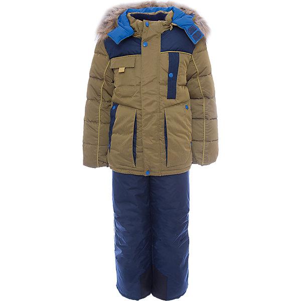 Комплект: куртка и полукомбинезон Арсен OLDOS для мальчикаВерхняя одежда<br>Характеристики товара:<br><br>• цвет: синий<br>• комплектация: куртка и полукомбинезон<br>• состав ткани: 100% полиэстер, пропитка PU, Teflon<br>• подкладка: флис, полиэстер<br>• утеплитель: куртка - искусственный лебяжий пух, полукомбинезон - Hollofan 200 г/м2<br>• подстежка: 60% шерсть, 40% полиэстер<br>• сезон: зима<br>• температурный режим: от -35 до 0<br>• застежка: молния<br>• капюшон: с мехом, съемный<br>• подстежка в комплекте<br>• страна бренда: Россия<br>• страна изготовитель: Россия<br><br>Этот костюм для мальчика дополнен шерстяной подстежкой. Зимний комплект для мальчика дополнен удобными карманами регулируемыми подтяжками, капюшоном, планкой и внутренней манжетой. Этот детский комплект обеспечит тепло и комфорт даже в сильные холода. Теплый детский комплект сделан из качественных материалов. <br><br>Комплект: куртка и полукомбинезон Арсен Oldos (Олдос) для мальчика можно купить в нашем интернет-магазине.<br><br>Ширина мм: 356<br>Глубина мм: 10<br>Высота мм: 245<br>Вес г: 519<br>Цвет: синий<br>Возраст от месяцев: 36<br>Возраст до месяцев: 48<br>Пол: Мужской<br>Возраст: Детский<br>Размер: 104,134,128,122,116,110<br>SKU: 7016931