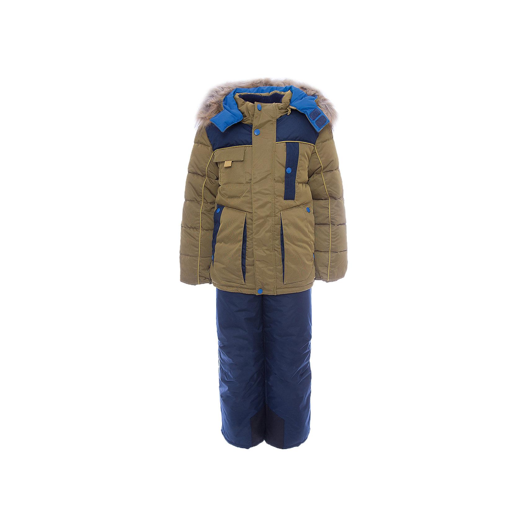 Комплект: куртка и полукомбинезон Арсен OLDOS для мальчикаВерхняя одежда<br>Характеристики товара:<br><br>• цвет: синий<br>• комплектация: куртка и полукомбинезон<br>• состав ткани: 100% полиэстер, пропитка PU, Teflon<br>• подкладка: флис, полиэстер<br>• утеплитель: куртка - искусственный лебяжий пух, полукомбинезон - Hollofan 200 г/м2<br>• подстежка: 60% шерсть, 40% полиэстер<br>• сезон: зима<br>• температурный режим: от -35 до 0<br>• застежка: молния<br>• капюшон: с мехом, съемный<br>• подстежка в комплекте<br>• страна бренда: Россия<br>• страна изготовитель: Россия<br><br>Этот костюм для мальчика дополнен шерстяной подстежкой. Зимний комплект для мальчика дополнен удобными карманами регулируемыми подтяжками, капюшоном, планкой и внутренней манжетой. Этот детский комплект обеспечит тепло и комфорт даже в сильные холода. Теплый детский комплект сделан из качественных материалов. <br><br>Комплект: куртка и полукомбинезон Арсен Oldos (Олдос) для мальчика можно купить в нашем интернет-магазине.<br><br>Ширина мм: 356<br>Глубина мм: 10<br>Высота мм: 245<br>Вес г: 519<br>Цвет: синий<br>Возраст от месяцев: 96<br>Возраст до месяцев: 108<br>Пол: Мужской<br>Возраст: Детский<br>Размер: 134,104,110,116,122,128<br>SKU: 7016931