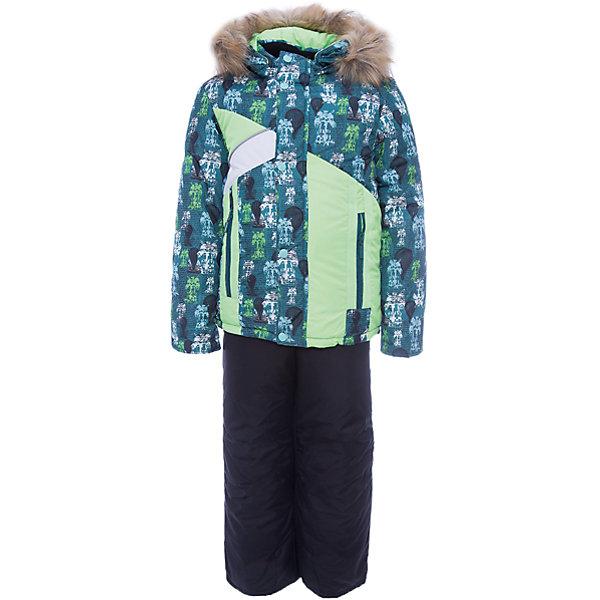 Комплект: куртка и полукомбинезон Артемий OLDOS для мальчикаВерхняя одежда<br>Характеристики товара:<br><br>• цвет: зеленый<br>• комплектация: куртка и полукомбинезон<br>• состав ткани: 100% полиэстер, Teflon<br>• подкладка: хлопок, полиэстер<br>• утеплитель: Hollofan 250/200 г/м2<br>• подстежка: 60% шерсть, 40% полиэстер<br>• сезон: зима<br>• температурный режим: от -35 до 0<br>• застежка: молния<br>• капюшон: с мехом, съемный<br>• подстежка в комплекте<br>• страна бренда: Россия<br>• страна изготовитель: Россия<br><br>Такой зимний комплект состоит из куртки и удобного полукомбинезона, также с ним идет шерстяная подстежка. Она отстегивается в более теплую погоду. Подкладка зимнего комплекта комбинированная: хлопок и полиэстер. Зимний костюм для мальчика дополнен элементами, помогающими скорректировать размер точно под ребенка. <br><br>Комплект: куртка и полукомбинезон Артемий Oldos (Олдос) для мальчика можно купить в нашем интернет-магазине.<br>Ширина мм: 356; Глубина мм: 10; Высота мм: 245; Вес г: 519; Цвет: зеленый; Возраст от месяцев: 36; Возраст до месяцев: 48; Пол: Мужской; Возраст: Детский; Размер: 104,110,116,86,92,98; SKU: 7016938;