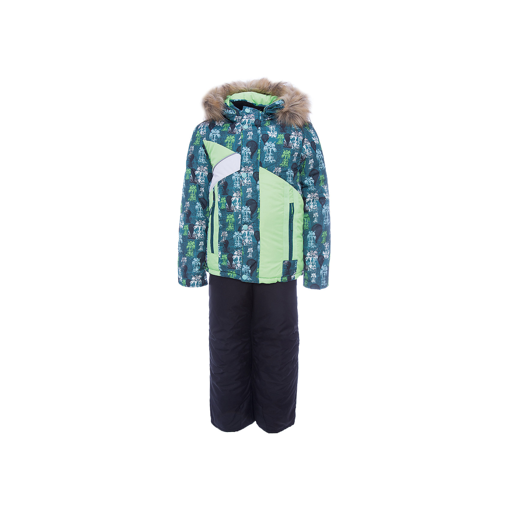 Комплект: куртка и полукомбинезон Артемий OLDOS для мальчикаВерхняя одежда<br>Характеристики товара:<br><br>• цвет: зеленый<br>• комплектация: куртка и полукомбинезон<br>• состав ткани: 100% полиэстер, Teflon<br>• подкладка: хлопок, полиэстер<br>• утеплитель: Hollofan 250/200 г/м2<br>• подстежка: 60% шерсть, 40% полиэстер<br>• сезон: зима<br>• температурный режим: от -35 до 0<br>• застежка: молния<br>• капюшон: с мехом, съемный<br>• подстежка в комплекте<br>• страна бренда: Россия<br>• страна изготовитель: Россия<br><br>Такой зимний комплект состоит из куртки и удобного полукомбинезона, также с ним идет шерстяная подстежка. Она отстегивается в более теплую погоду. Подкладка зимнего комплекта комбинированная: хлопок и полиэстер. Зимний костюм для мальчика дополнен элементами, помогающими скорректировать размер точно под ребенка. <br><br>Комплект: куртка и полукомбинезон Артемий Oldos (Олдос) для мальчика можно купить в нашем интернет-магазине.<br><br>Ширина мм: 356<br>Глубина мм: 10<br>Высота мм: 245<br>Вес г: 519<br>Цвет: зеленый<br>Возраст от месяцев: 60<br>Возраст до месяцев: 72<br>Пол: Мужской<br>Возраст: Детский<br>Размер: 116,86,92,98,104,110<br>SKU: 7016938