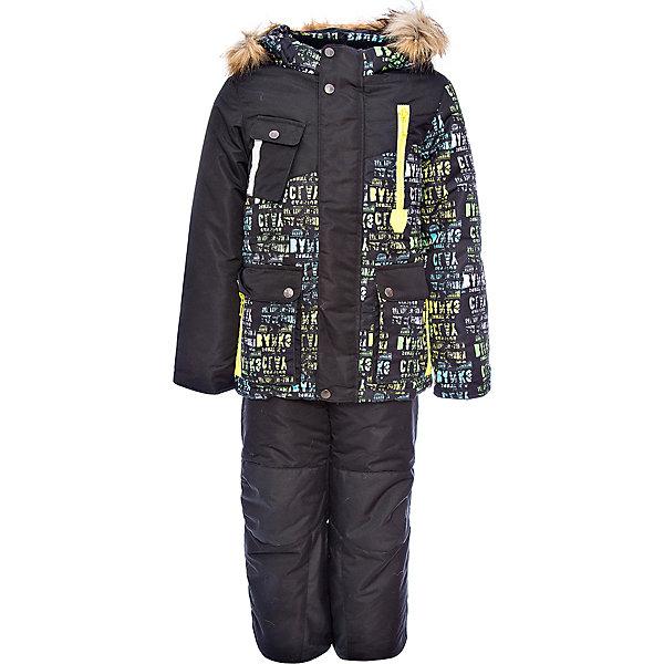 Комплект: куртка и полукомбинезон Ян OLDOS для мальчикаВерхняя одежда<br>Характеристики товара:<br><br>• цвет: черный<br>• комплектация: куртка и полукомбинезон<br>• состав ткани: 100% полиэстер, Teflon<br>• подкладка: хлопок, полиэстер<br>• утеплитель: Hollofan 250/200 г/м2<br>• подстежка: 60% шерсть, 40% полиэстер<br>• сезон: зима<br>• температурный режим: от -35 до 0<br>• застежка: молния<br>• капюшон: с мехом, съемный<br>• подстежка в комплекте<br>• страна бренда: Россия<br>• страна изготовитель: Россия<br><br>Теплый костюм для ребенка выполнен в практичной расцветке. Такой зимний комплект состоит из куртки и удобного полукомбинезона. Наполнитель зимнего комплекта легкий и теплый. Зимний костюм для мальчика дополнен элементами, помогающими скорректировать размер точно под ребенка. <br><br>Комплект: куртка и полукомбинезон Ян Oldos (Олдос) для мальчика можно купить в нашем интернет-магазине.<br>Ширина мм: 356; Глубина мм: 10; Высота мм: 245; Вес г: 519; Цвет: черный; Возраст от месяцев: 36; Возраст до месяцев: 48; Пол: Мужской; Возраст: Детский; Размер: 104,134,122,116,110; SKU: 7016976;