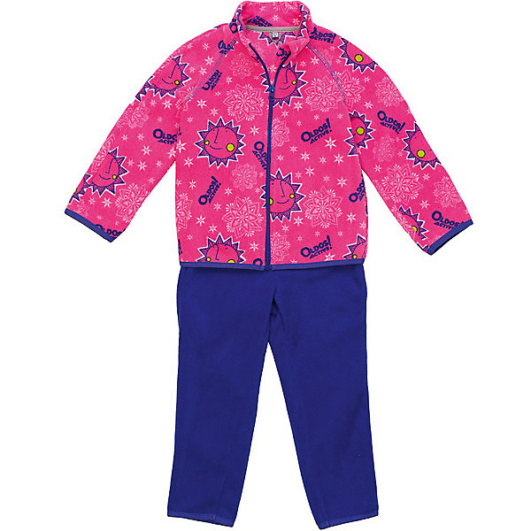 Комплект флисовый Дори OLDOS для девочкиКомплекты<br>Характеристики товара:<br><br>• цвет: розовый<br>• комплектация: кофта, брюки<br>• состав ткани: флис, полиэстер<br>• утеплитель: нет<br>• сезон: демисезон<br>• застежка: молния<br>• длинные рукава<br>• пояс: резинка и шнурок<br>• страна бренда: Россия<br>• страна изготовитель: Россия<br><br>Флисовый комплект декорирован ярким принтом. Удобный костюм для ребенка отличается продуманным модным дизайном. Флисовый комплект для детей можно надевать для утепления под верхнюю одежду или использовать как самостоятельный наряд. Материал такого детского костюма - мягкий плотный флис. <br><br>Комплект флисовый Дори Oldos (Олдос) для девочки можно купить в нашем интернет-магазине.<br>Ширина мм: 215; Глубина мм: 88; Высота мм: 191; Вес г: 336; Цвет: розовый; Возраст от месяцев: 12; Возраст до месяцев: 18; Пол: Женский; Возраст: Детский; Размер: 86,110,104,98,92; SKU: 7017255;