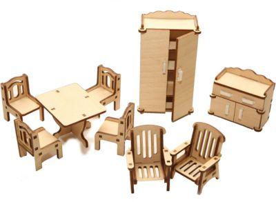 Деревянный набор мебели Happykon Зал
