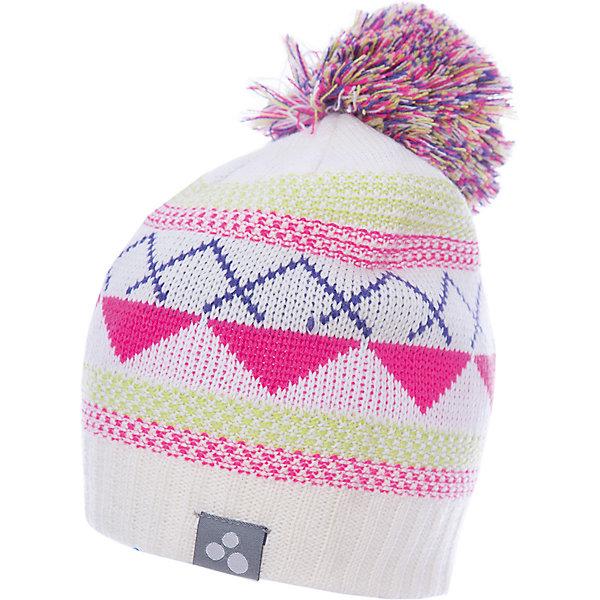 Купить Шапка Huppa Ferris для девочки, Эстония, белый, 55-57, 57-59, 47-49, 51-53, Женский