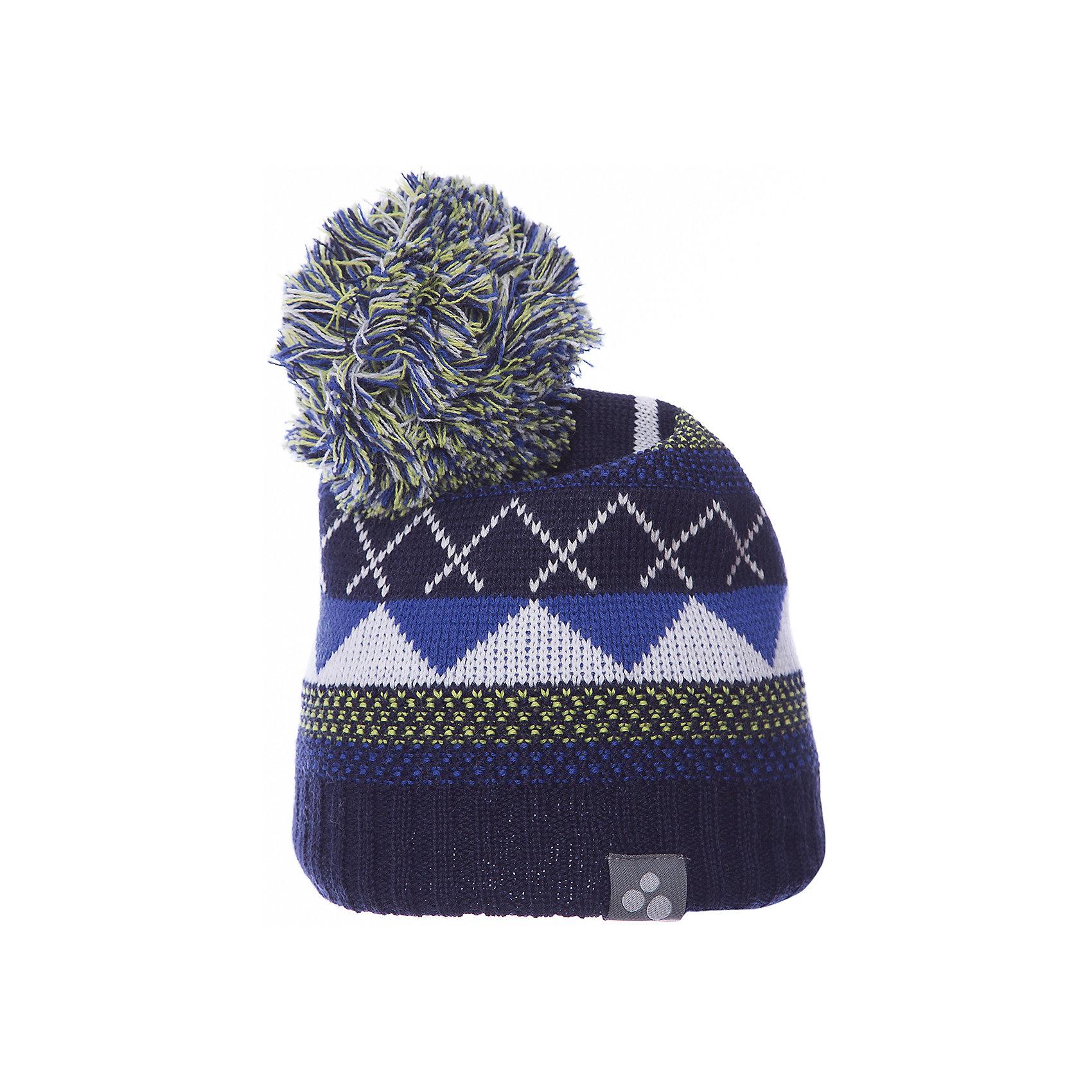 Шапка FERRIS HuppaГоловные уборы<br>Вязаная детская шапка FERRIS.Теплая яркая вязанная шапочка c помпоном, прекрассно подойдет для повседневных прогулок в холодную погоду.<br>Состав:<br>50% мерс.шерсть, 50% акрил<br><br>Ширина мм: 89<br>Глубина мм: 117<br>Высота мм: 44<br>Вес г: 155<br>Цвет: синий<br>Возраст от месяцев: 132<br>Возраст до месяцев: 156<br>Пол: Унисекс<br>Возраст: Детский<br>Размер: 57-59,55-57,51-53,47-49<br>SKU: 7023961