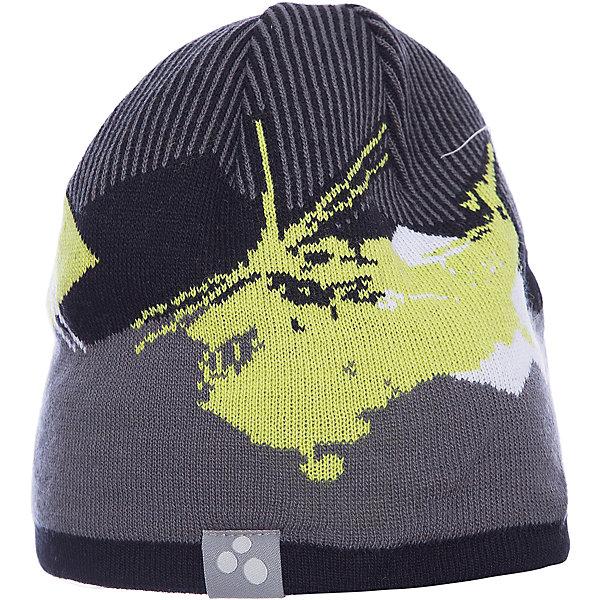 Шапка Huppa Carlos для мальчикаГоловные уборы<br>Характеристики товара:<br><br>• модель: Carlos;<br>• цвет: серый/желтый;<br>• состав: 50% шерсть, 50% акрил;<br>• двухслойная, без подкладки;<br>• сезон: зима;<br>• температурный режим: от 0°С до -20°С;<br>• помпон сверху<br>• особенности: вязаная;<br>• светоотражающая эмблема сбоку;<br>• страна бренда: Финляндия;<br>• страна изготовитель: Эстония.<br><br>Вязаная детская шапка Carlos. Теплая яркая вязанная шапочка c рисунком, прекрасно подойдет для повседневных прогулок в холодную погоду. <br><br>Шапку Huppa Carlos (Хуппа) можно купить в нашем интернет-магазине.<br>Ширина мм: 89; Глубина мм: 117; Высота мм: 44; Вес г: 155; Цвет: зеленый; Возраст от месяцев: 72; Возраст до месяцев: 132; Пол: Мужской; Возраст: Детский; Размер: 55-57,57-59,51-53; SKU: 7023995;