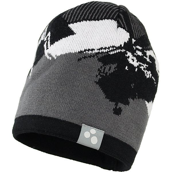 Шапка Huppa Carlos для мальчикаГоловные уборы<br>Характеристики товара:<br><br>• модель: Carlos;<br>• цвет: серый/черный;<br>• состав: 50% шерсть, 50% акрил; <br>• подкладка: 100% хлопок;<br>• двухслойная, без подкладки;<br>• сезон: зима;<br>• температурный режим: от 0°С до -20°С;<br>• помпон сверху<br>• особенности: вязаная;<br>• светоотражающая эмблема сбоку;<br>• страна бренда: Финляндия;<br>• страна изготовитель: Эстония.<br><br>Вязаная детская шапка Carlos. Теплая яркая вязанная шапочка c рисунком, прекрасно подойдет для повседневных прогулок в холодную погоду. <br><br>Шапку Huppa Carlos (Хуппа) можно купить в нашем интернет-магазине.<br><br>Ширина мм: 89<br>Глубина мм: 117<br>Высота мм: 44<br>Вес г: 155<br>Цвет: серый<br>Возраст от месяцев: 132<br>Возраст до месяцев: 156<br>Пол: Мужской<br>Возраст: Детский<br>Размер: 57-59,55-57,51-53<br>SKU: 7023999