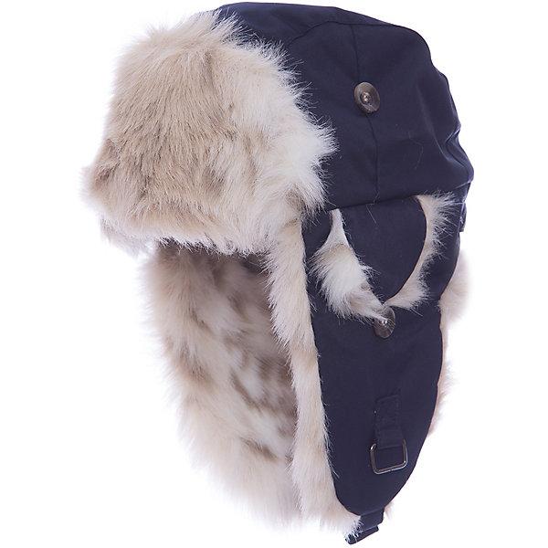 Купить Шапка-ушанка Huppa Kaspar для мальчика, Эстония, синий, 55-57, 51-53, 47-49, Мужской