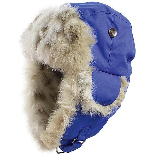 Купить Шапка-ушанка Huppa Kaspar для мальчика, Эстония, синий, 47-49, 55-57, 51-53, Мужской