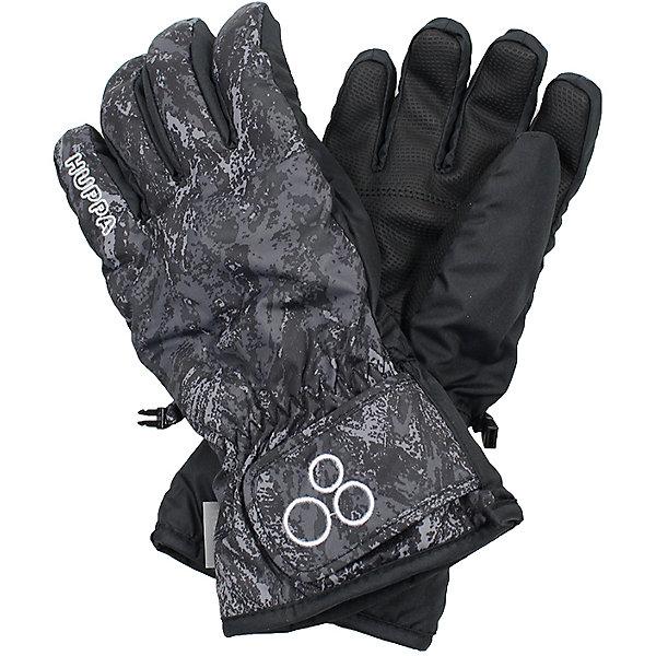 Перчатки Huppa Rixton 1Перчатки, варежки<br>Характеристики товара:<br><br>• модель: Rixton 1;<br>• цвет: черный принт;<br>• состав: 100% полиэстер; <br>• подкладка: 100% полиэстер, флис;<br>• утеплитель: 90 г/м2;<br>• сезон: зима;<br>• температурный режим: от 0°С до -20°С;<br>• водонепроницаемость: 5000 мм;<br>• воздухопроницаемость: 5000 мм;<br>• водо- и ветронепроницаемый, дышащий материал;<br>• застежка-липучка;<br>• усиленная вставка на ладони;<br>• светоотражающие детали;<br>• страна бренда: Финляндия;<br>• страна изготовитель: Эстония.<br><br>Теплые зимние перчатки на флисовой подкладке. Материал водонепроницаем, что позволит сохранить ручки сухими. Перчатки с усилением на ладони и застежкой-липучкой.<br><br>Перчатки Huppa Rixton 1 (Хуппа) можно купить в нашем интернет-магазине.<br><br>Ширина мм: 162<br>Глубина мм: 171<br>Высота мм: 55<br>Вес г: 119<br>Цвет: черный<br>Возраст от месяцев: 108<br>Возраст до месяцев: 132<br>Пол: Унисекс<br>Возраст: Детский<br>Размер: 7,6,5,4,3,8<br>SKU: 7024189