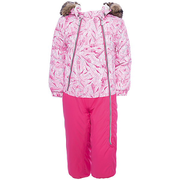 Комбинезон DEVON 1 Huppa для девочкиВерхняя одежда<br>Характеристики товара:<br><br>• модель: Devol 1;<br>• цвет: фуксия принт/фуксия;<br>• пол: девочка ;<br>• состав: 100% полиэстер;<br>• утеплитель: полиэстер, 300 гр.;<br>• подкладка: 100% хлопок,фланель;<br>• сезон: зима;<br>• температурный режим: от -5 до - 30С;<br>• водонепроницаемость:5000 мм вверх/ 10000 мм низ ;<br>• воздухопроницаемость: 5000 вверх/ 10000 низ г/м2/24ч;<br>• водо- и ветронепроницаемый, дышащий и грязеотталкивающий материал;<br>• особенности модели: c рисунком, с мехом;<br>• капюшон для большего удобства крепится на кнопки и, при необходимости, отстегивается;<br>• отстегивающаяся опушка из искусственного меха ;<br>• шаговый,задний и боковые швы проклеены и не пропускают влагу;<br>• светоотражающих элементов для безопасности ребенка;<br>• две боковые молнии;<br>• на груди кармашек на липучке, внутри кольцо-держатель на ленте;<br>• эластичные манжеты на резинках, с отворотом (у размеров 68-80);<br>• манжеты брюк на резинке;<br>• съемные силиконовые штрипки;<br>• у брючин отсутствуют внутренние швы;<br>• страна бренда: Финляндия;<br>• страна изготовитель: Эстония.<br><br>Комбинезон Devol 1 для девочки зимний. Важный критерий при выборе комбинезона для девочки - это количество утеплителя, ведь малыши еще малоподвижны. поэтому комбинезон должен быть теплым. В модели Devol 1 300 грамм утеплителя, которые обеспечат тепло и комфорт ребенку при температуре от -5 до -30 градусов. Подкладка — из 100% хлопка ( фланель). Манжеты с отворотом у размеров 68-80. <br><br>Функциональные элементы: капюшон отстегивается с помощью кнопок, мех отстегивается, карманы на липучке, манжеты на резинке, съемные силиконовые штрипки, светоотражающие элементы, две длинные молнии, отвороты. <br><br>Комбинезон  Devol 1  для девочки Huppa (Хуппа) можно купить в нашем интернет-магазине.<br><br>Ширина мм: 356<br>Глубина мм: 10<br>Высота мм: 245<br>Вес г: 519<br>Цвет: розовый<br>Возраст от месяцев: 6<br>Возраст до месяцев: 9<br>П
