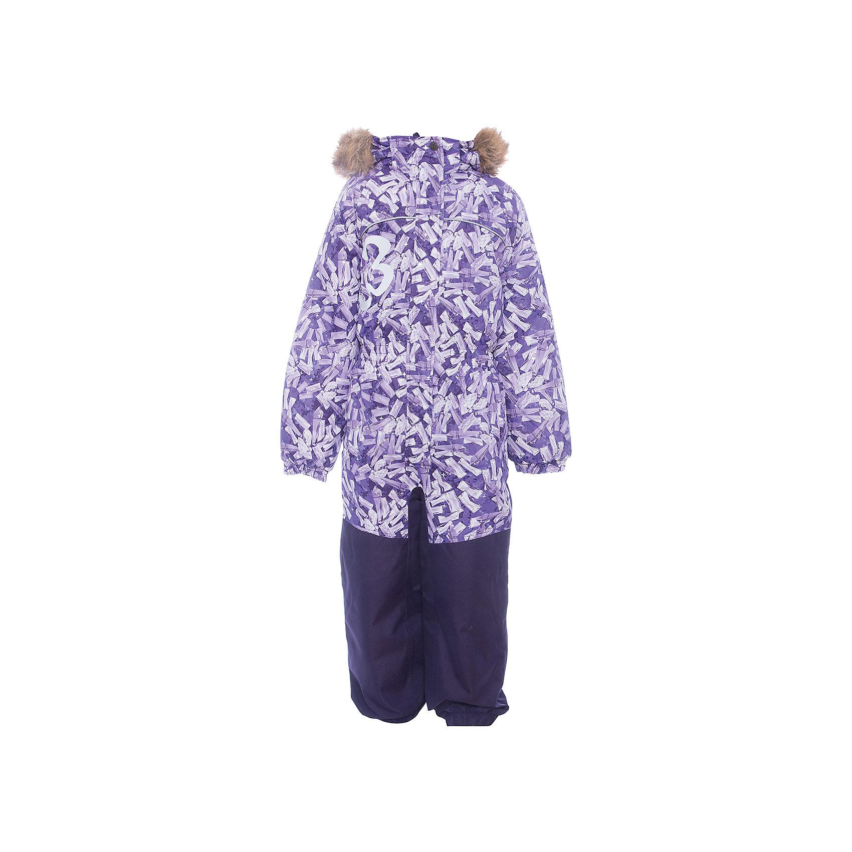 Комбинезон CHLOE 1 Huppa для девочкиВерхняя одежда<br>Характеристики товара:<br><br>• модель: Chloe 1;<br>• цвет: сиреневый,принт ;<br>• пол: девочка ;<br>• состав: 100% полиэстер;<br>• утеплитель: полиэстер, 300 гр.;<br>• подкладка: тафта/флис;<br>• сезон: зима;<br>• температурный режим: от -5 до - 30С;<br>• водонепроницаемость: 5000 мм вверх/10000 мм низ ;<br>• воздухопроницаемость: 5000 вверх/ 10000 низ г/м2/24ч;<br>• водо- и ветронепроницаемый, дышащий и грязеотталкивающий материал;<br>• особенности модели: c рисунком, с мехом;<br>• капюшон для большего удобства крепится на кнопки и, при необходимости, отстегивается;<br>• искусственный мех на капюшоне съемный ;<br>• сиденье и нижний край брючины выполнены из очень прочной ткани Cordura;<br>• cидельный шов, внутренние и боковые швы проклеены и не пропускают влагу;<br>• светоотражающих элементов для безопасности ребенка;<br>• внутренний и боковые карманы застегиваются на молнию;<br>• манжеты брюк и рукавов эластичные, на резинках;<br>• съемные силиконовые штрипки;<br>• страна бренда: Финляндия;<br>• страна изготовитель: Эстония.<br><br>Комбинезон Chloe 1 для девочки Водо и воздухонепроницаемый. Важный критерий при выборе комбинезона для девочки - это количество утеплителя, ведь малыши еще малоподвижны, поэтому комбинезон должен быть теплым. В модели Chloe 1 300 грамм утеплителя, которые обеспечат тепло и комфорт ребенку при температуре от -5 до -30 градусов. Подкладка — тафта/флис. <br><br>Функциональные элемент: капюшон отстегивается с помощью кнопок, мех отстегивается, все карманы на молнии, манжеты на резинке, съемные силиконовые штрипки, светоотражающие элементы.<br><br>Комбинезон  Chloe 1  для девочки Huppa (Хуппа) можно купить в нашем интернет-магазине.<br><br>Ширина мм: 356<br>Глубина мм: 10<br>Высота мм: 245<br>Вес г: 519<br>Цвет: лиловый<br>Возраст от месяцев: 96<br>Возраст до месяцев: 108<br>Пол: Женский<br>Возраст: Детский<br>Размер: 134,92,98,104,110,116,122,128<br>SKU: 7024535