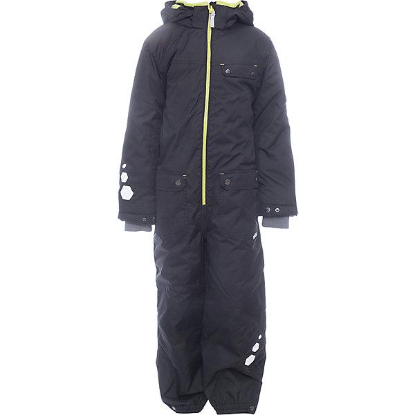 Комбинезон BLAZE Huppa для мальчикаВерхняя одежда<br>Характеристики товара:<br><br>• модель: Blaze;<br>• цвет: черный;<br>• пол: мальчик ;<br>• состав: 100% полиэстер;<br>• утеплитель: полиэстер, 300 гр.;<br>• подкладка: тафта;<br>• сезон: зима;<br>• температурный режим: от -5 до - 30С;<br>• водонепроницаемость: 10000 мм  ;<br>• воздухопроницаемость: 10000 г/м2/24ч;<br>• водо- и ветронепроницаемый, дышащий и грязеотталкивающий материал;<br>• особенности модели: c рисунком;<br>• капюшон для большего удобства крепится на кнопки и, при необходимости, отстегивается<br>• cидельный шов, внутренние и боковые швы проклеены и не пропускают влагу;<br>•  cиденье и нижний край брючины выполнены из очень прочной ткани Cordura;<br>• светоотражающих элементов для безопасности ребенка ;<br>• внутренний кармашек застегиваются на молнию;<br>• рукава регулируются по ширине, внутри есть дополнительный трикотажный манжет; <br>• манжеты брюк на резинках, с кнопками для изменения ширины<br>• съемные силиконовые штрипки;<br>• внутренняя регулировка обхвата талии;<br>• страна бренда: Финляндия;<br>• страна изготовитель: Эстония.<br><br>Зимний комбинезон Blaze для мальчика бренда HUPPA для детей ростом от 92 до 140 см. Влагонепроницаемый и дышащий материал с утеплителем 300 грамм подойдет на температуру от -5 до -30 градусов. Подкладка — тафта. Нижняя часть комбинезона выполнена из материала повышенной прочности Cordura. Для удобства надевания высокой обуви, низ штанин регулируется кнопкой. <br><br>Функциональные элементы: капюшон отстегивается с помощью кнопок, карманы на кнопках,внутрений кармашек на молнии, трикотажные манжеты,манжеты регулируются с помощью кнопки, утяжка на талии, подол штанин регулируется кнопкой, все швы проклеены, съемные силиконовые штрипки, светоотражающие элементы, вставки из материала повышенной прочности.<br><br>Зимний комбинезон Blaze для мальчика бренда HUPPA  можно купить в нашем интернет-магазине.<br>Ширина мм: 356; Глубина мм: 10; Высота мм: 245; Вес г: 519;